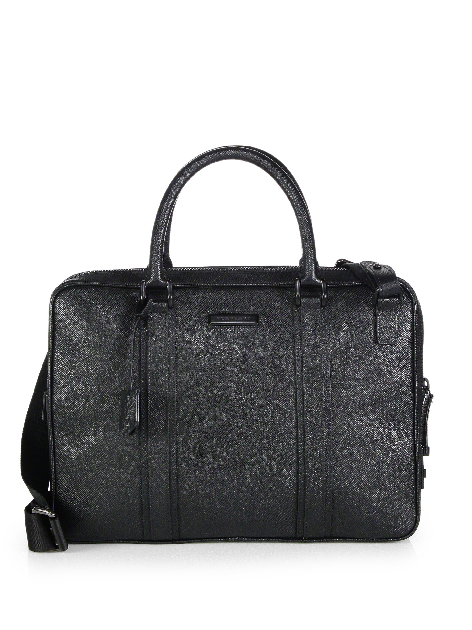 Lyst Burberry Small Newburg Briefcase In Black For Men