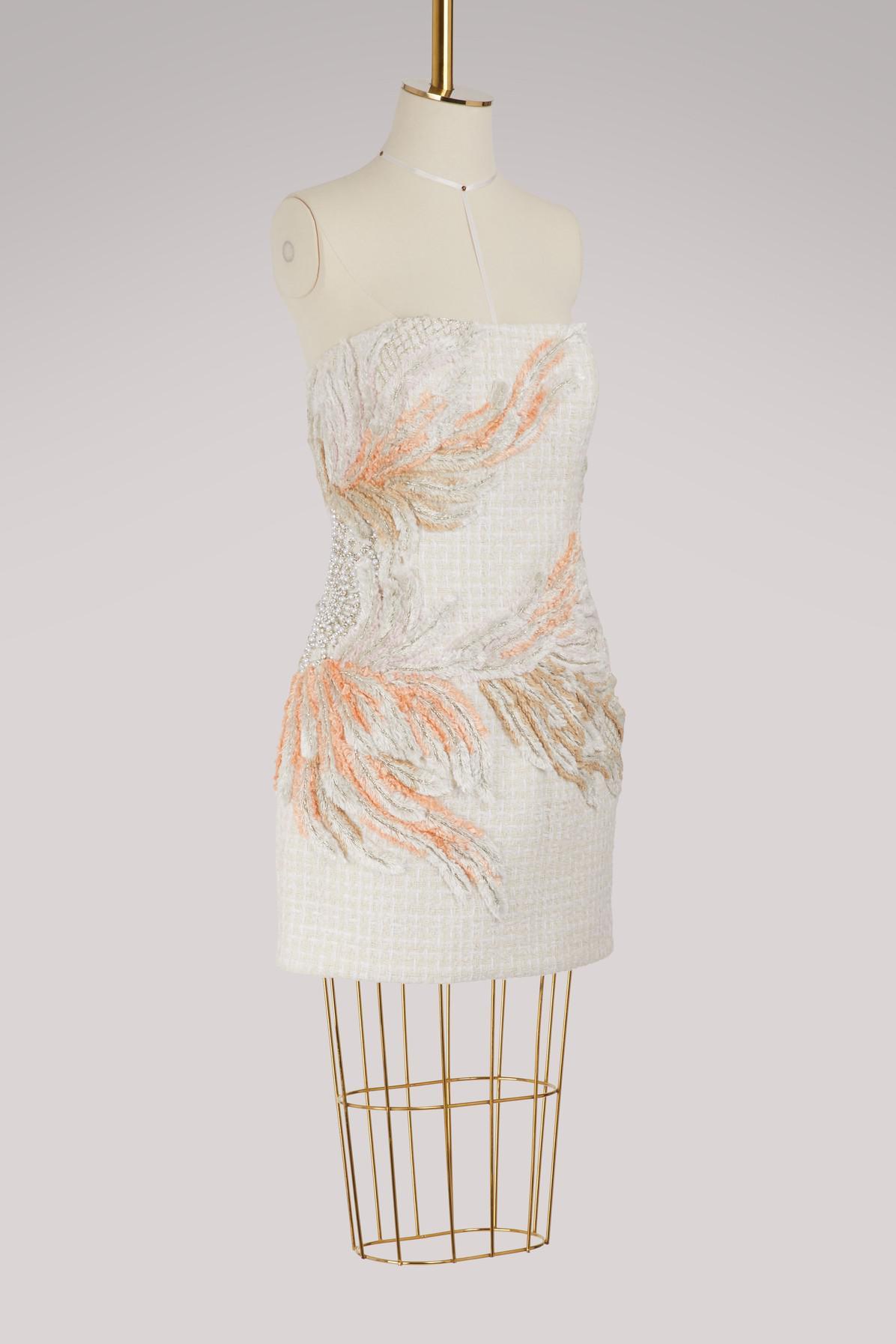 462ebde4 Lyst - Balmain Embroidered Strapless Dress