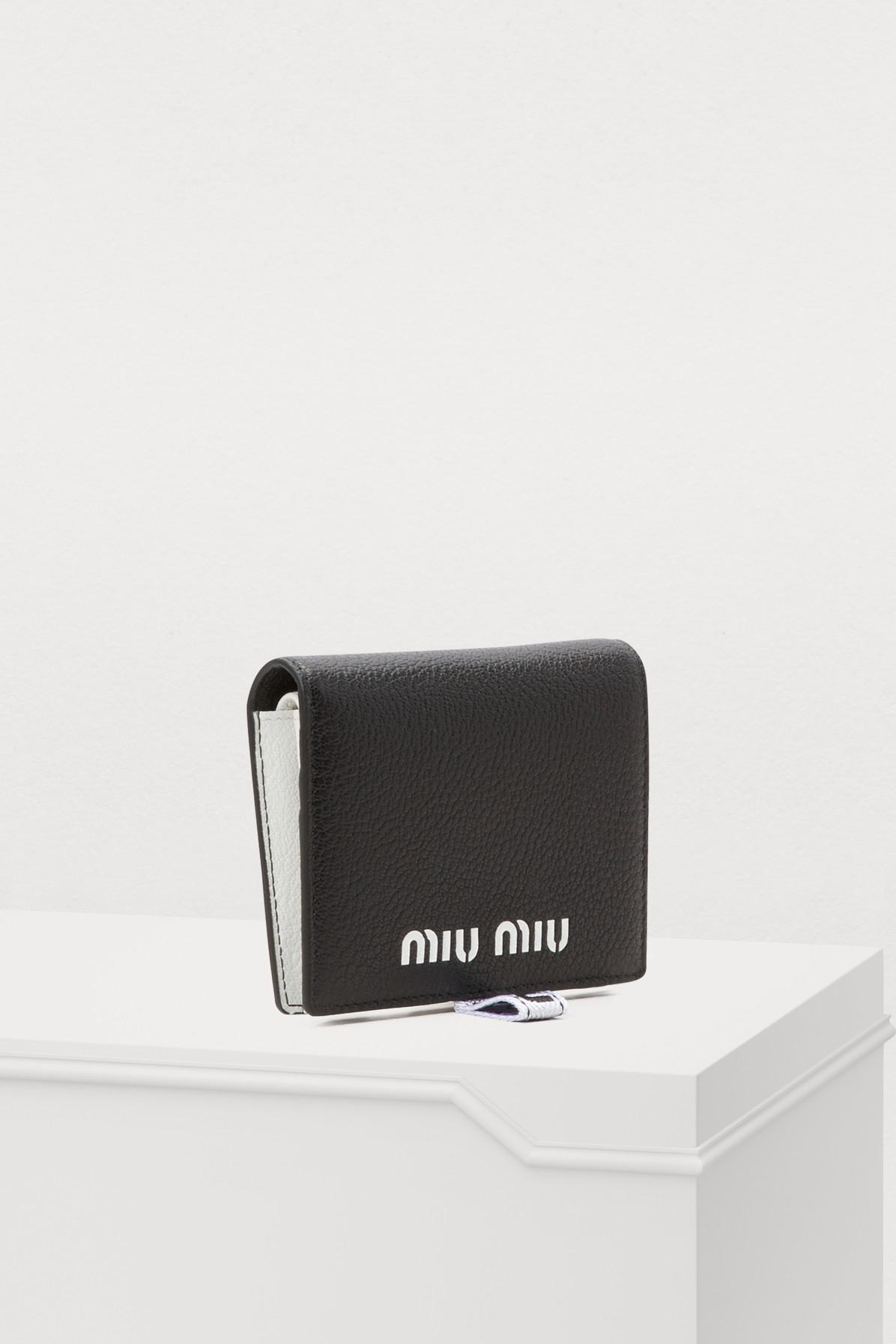 12f55150c48f Miu Miu - Black Small Quilted Wallet - Lyst. View fullscreen