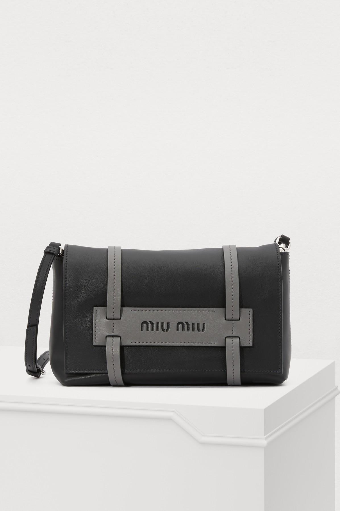 Miu Miu Grace Lux Crossbody Bag in Black - Lyst 90214c23c0256