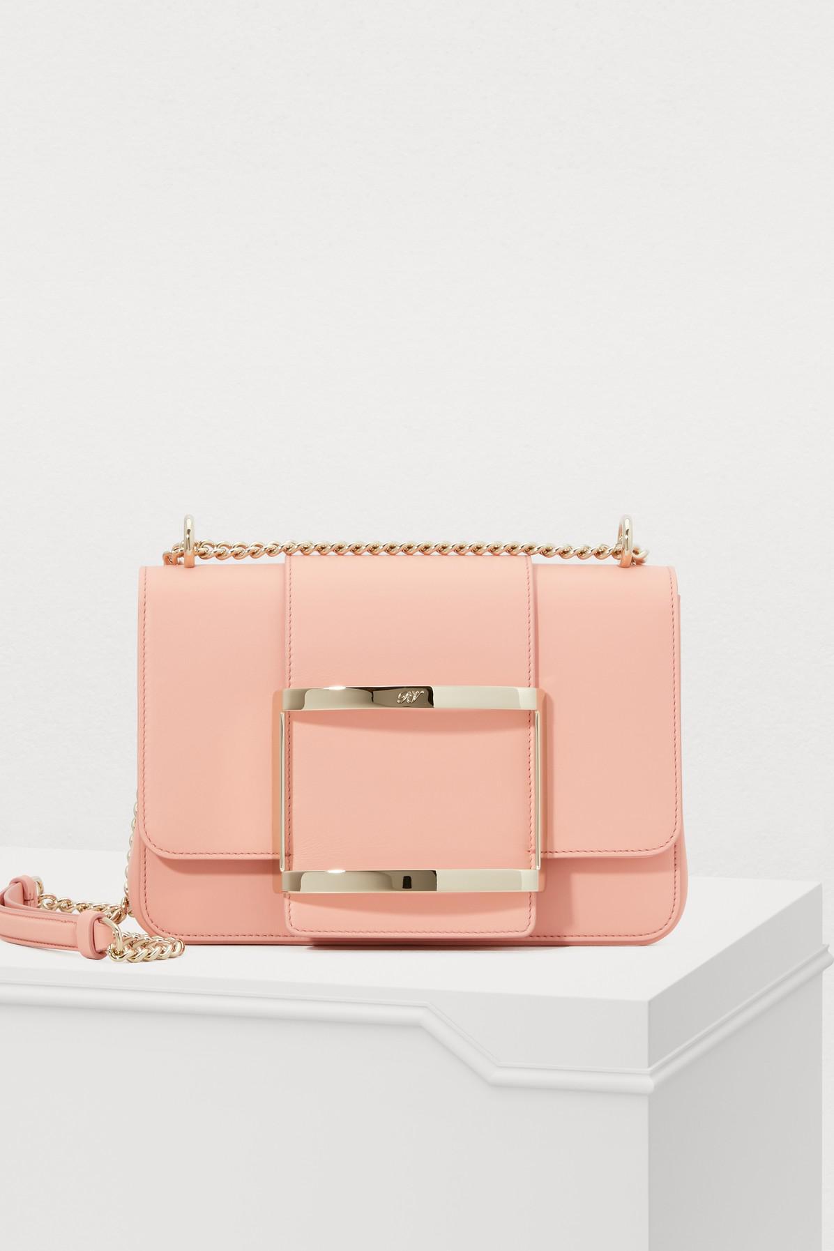 d5947eb5ca0f Roger Vivier Très Vivier Small Shoulder Bag in Pink - Lyst