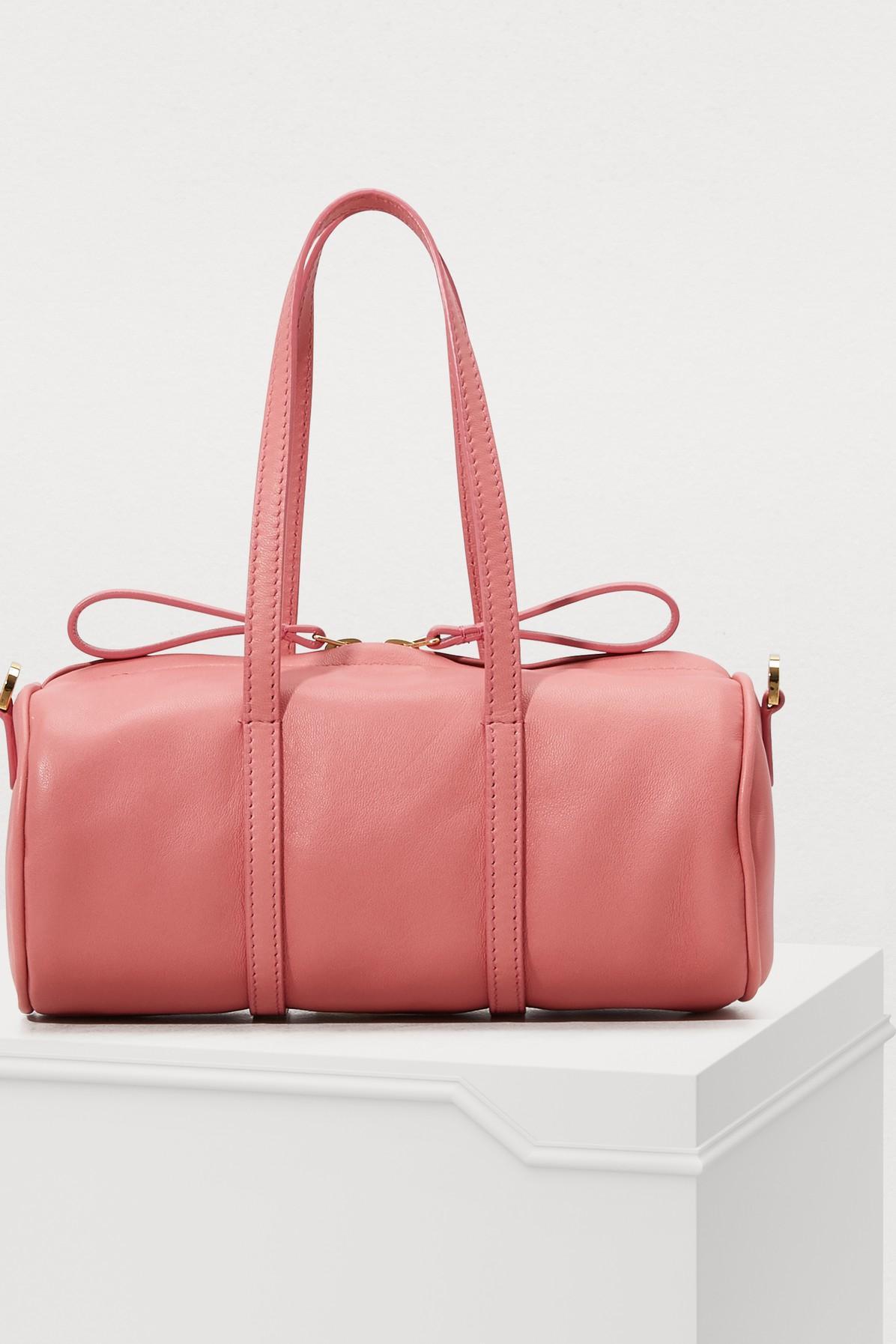 Lyst - Mansur Gavriel Lamb Mini Mini Duffle Bag in Pink - Save 34% bf8796f733391