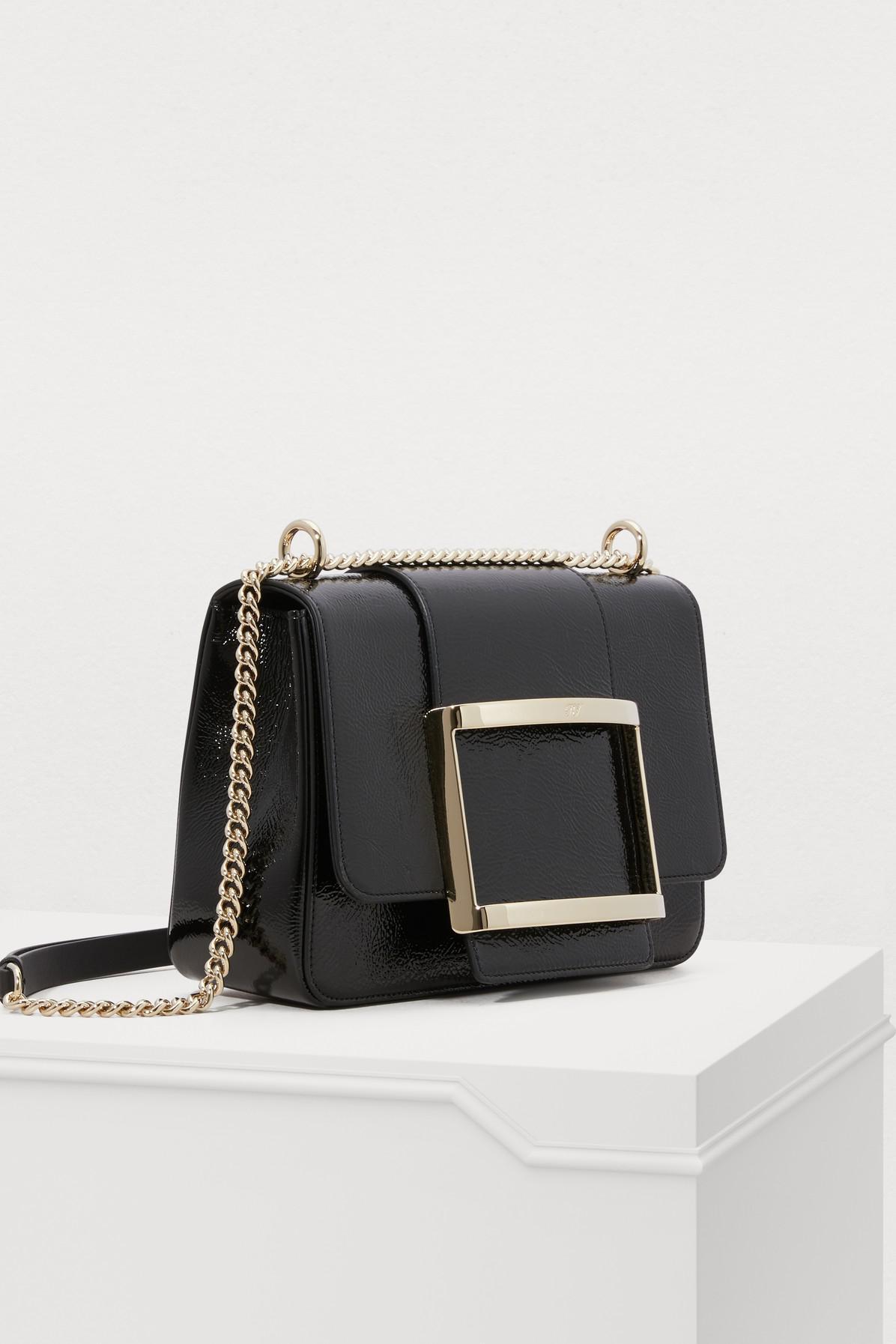 Roger Vivier - Black Très Vivier Small Shoulder Bag - Lyst. View fullscreen 6b4df2193ffee