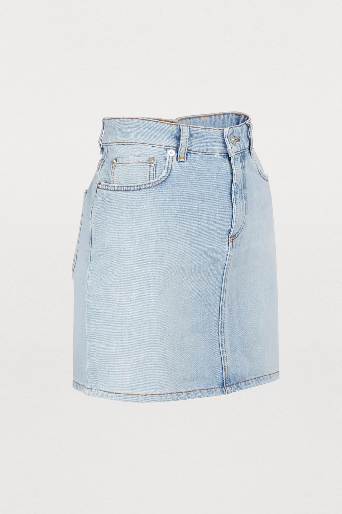 3a6c0c25 Ganni - Blue Sheldon Denim Skirt - Lyst. View fullscreen