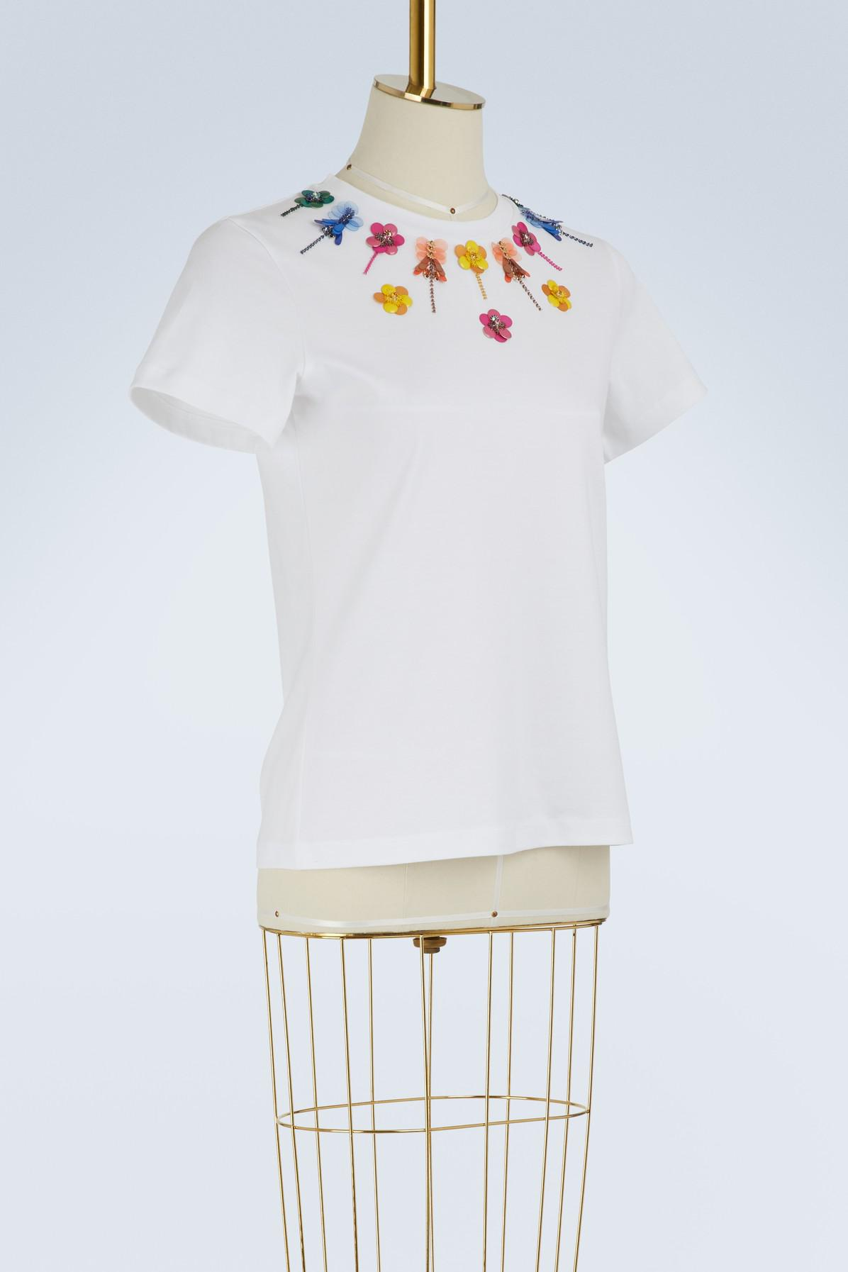 Best Seller For Sale Shop Cheap Price Iven embroidered t-shirt Mary Katrantzou 2FBMnWG