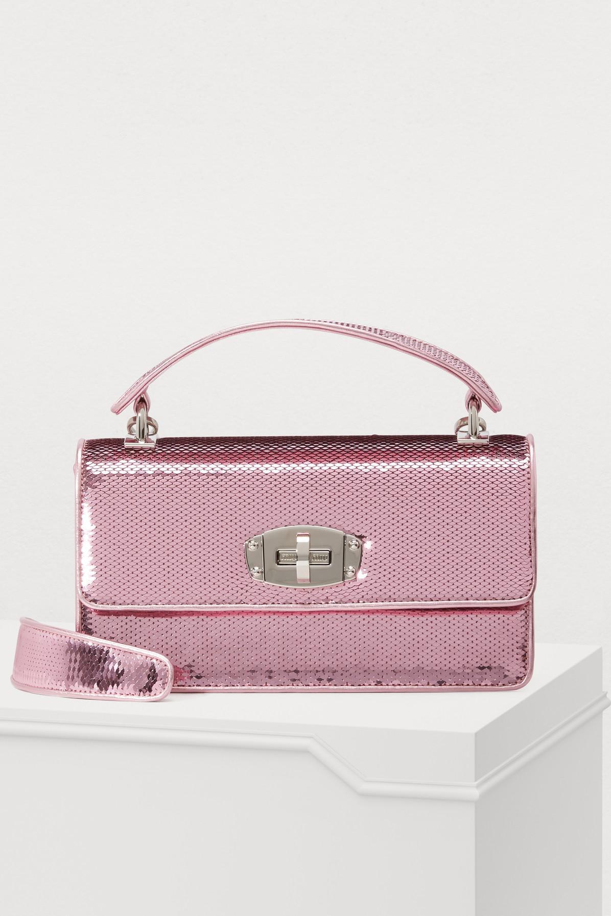 a563ab8668f2 Lyst - Miu Miu Cleo Handbag in Pink