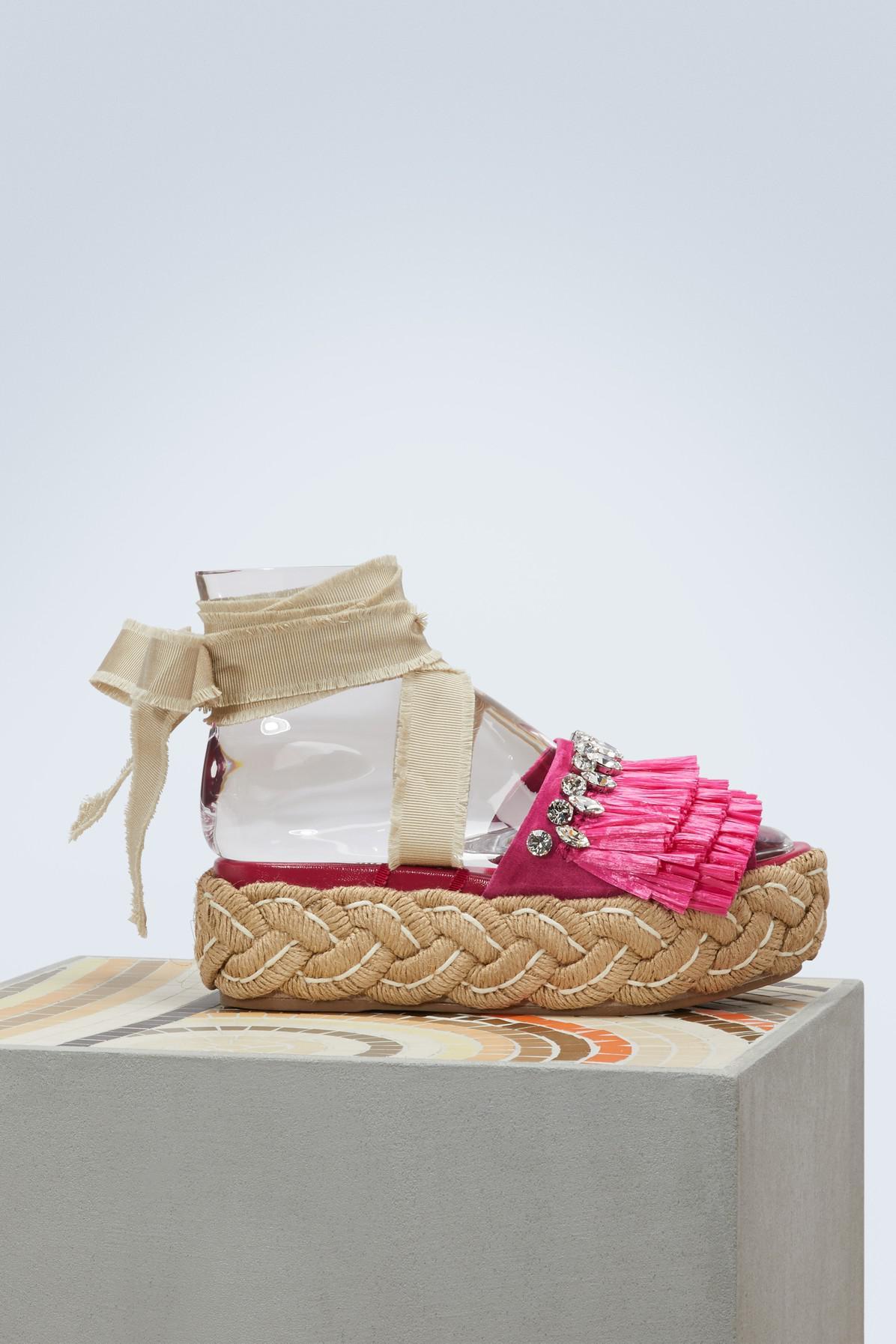 Miu Miu Raffia sandals CfV8Xjcm