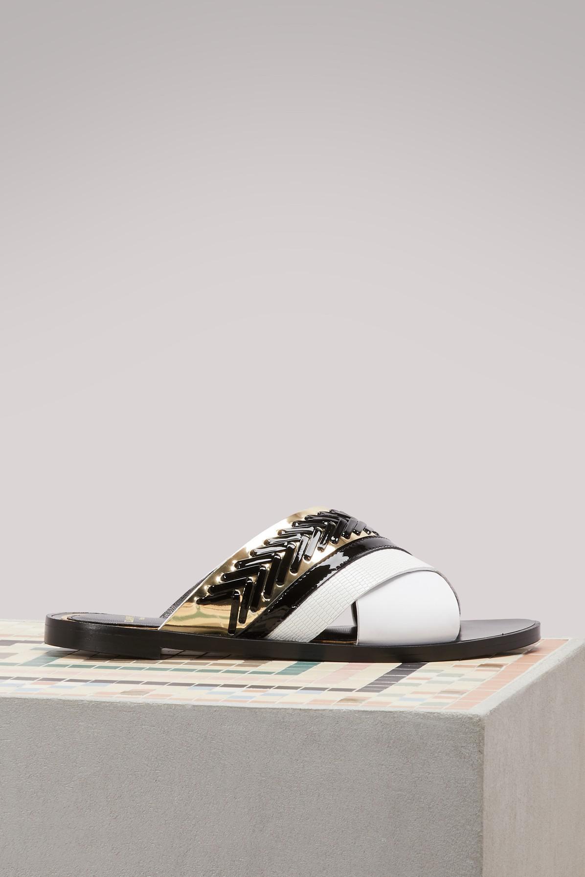 Flat bicolore sandals Lanvin eR0A2GFOtL