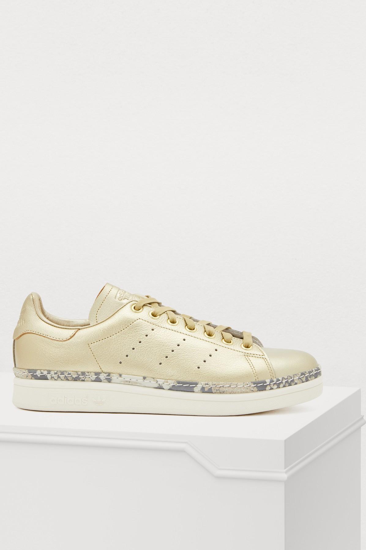 5c1b236e4b2 Lyst - adidas Stan Smith New Bold Sneakers in Metallic