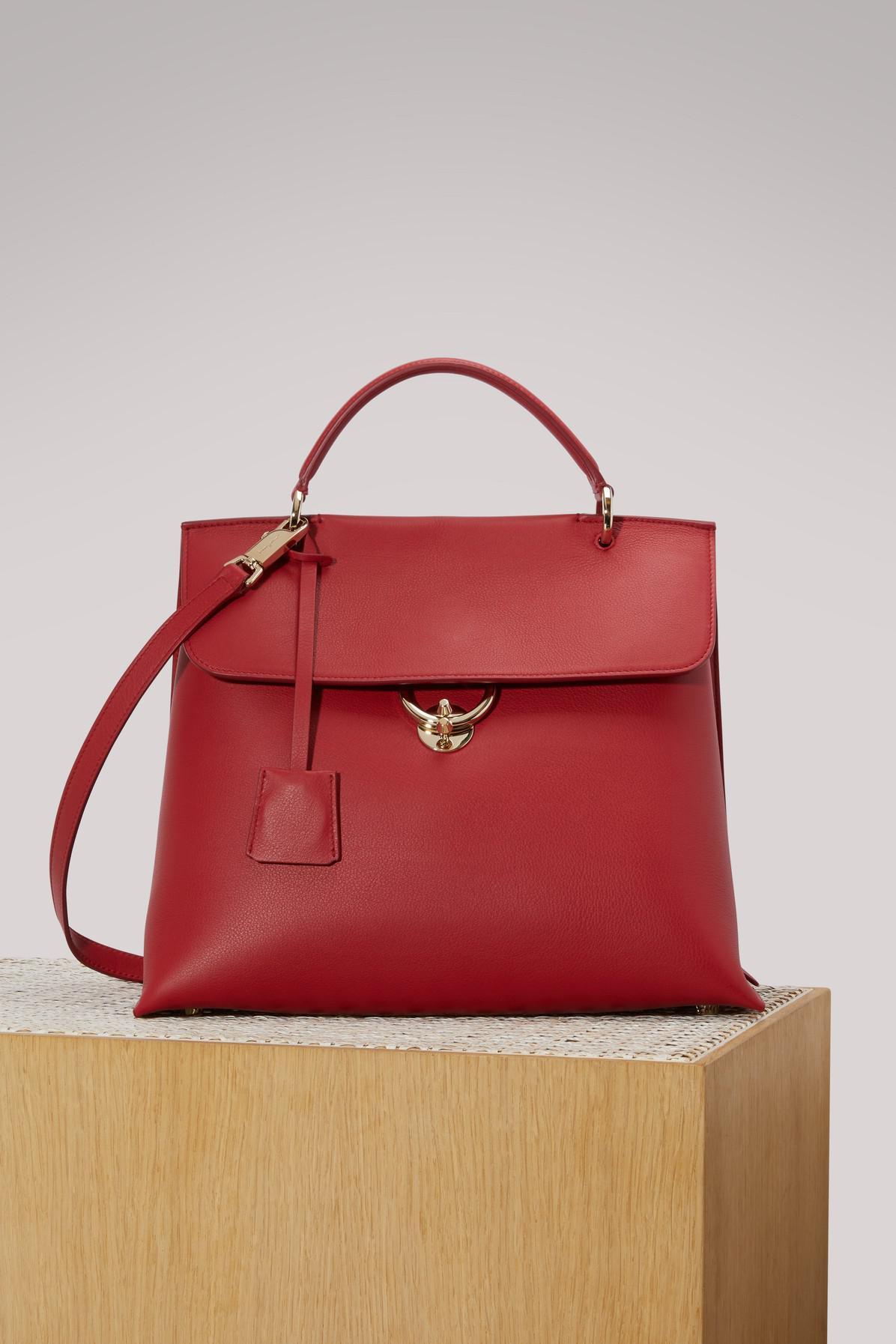 155cf651de Lyst - Ferragamo Jet Set Gm Handbag in Red