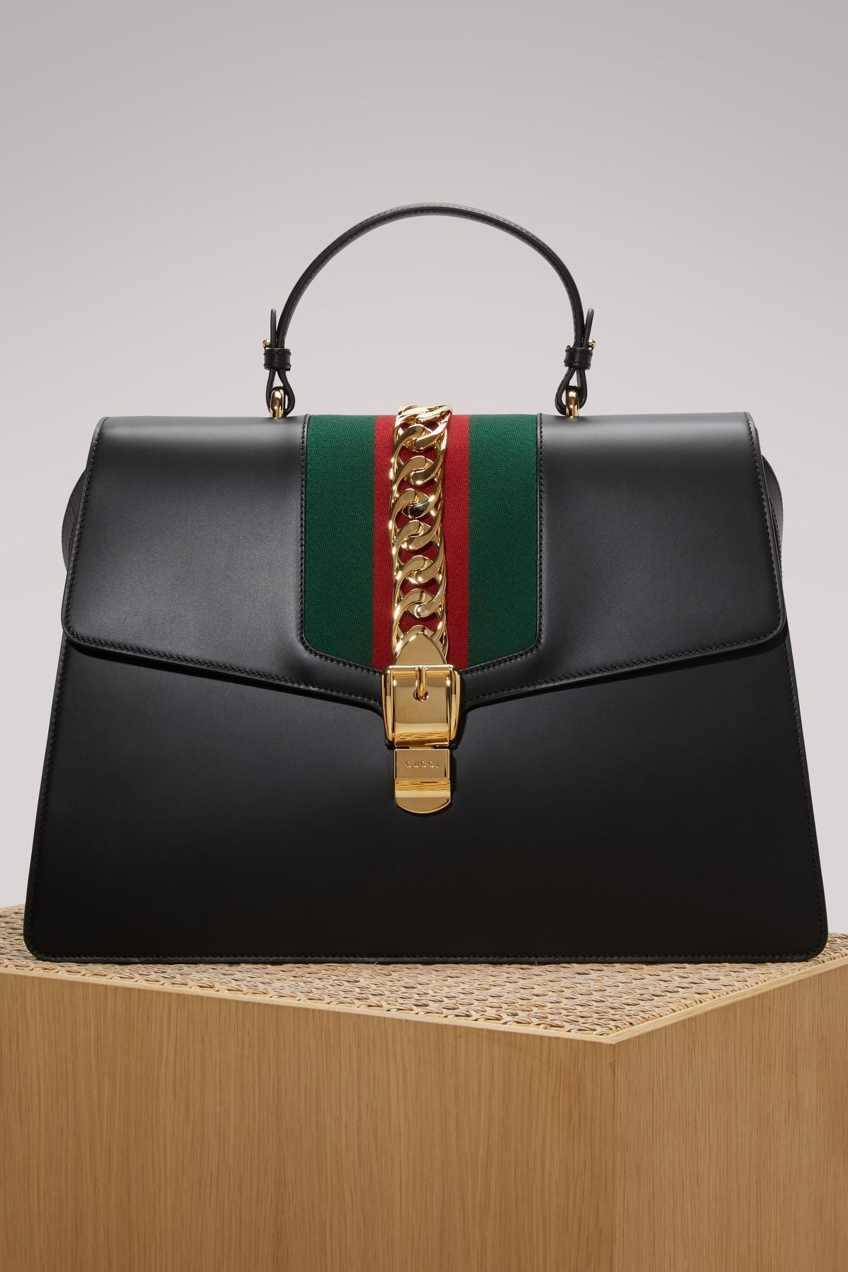 Gucci MAXI DOME LEATHER TOP HANDLE BAG GDKts