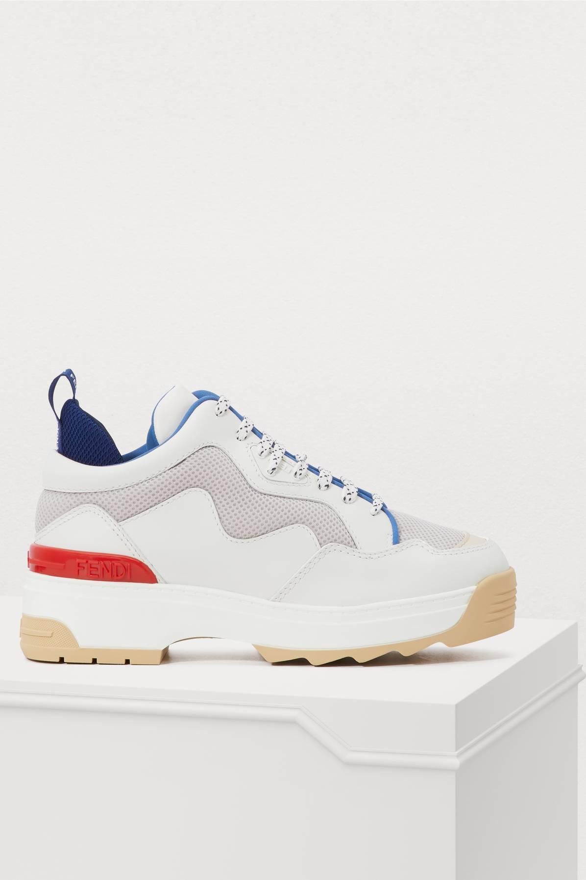 de8b2436eda26 Fendi T-rex Sneakers in Blue - Lyst