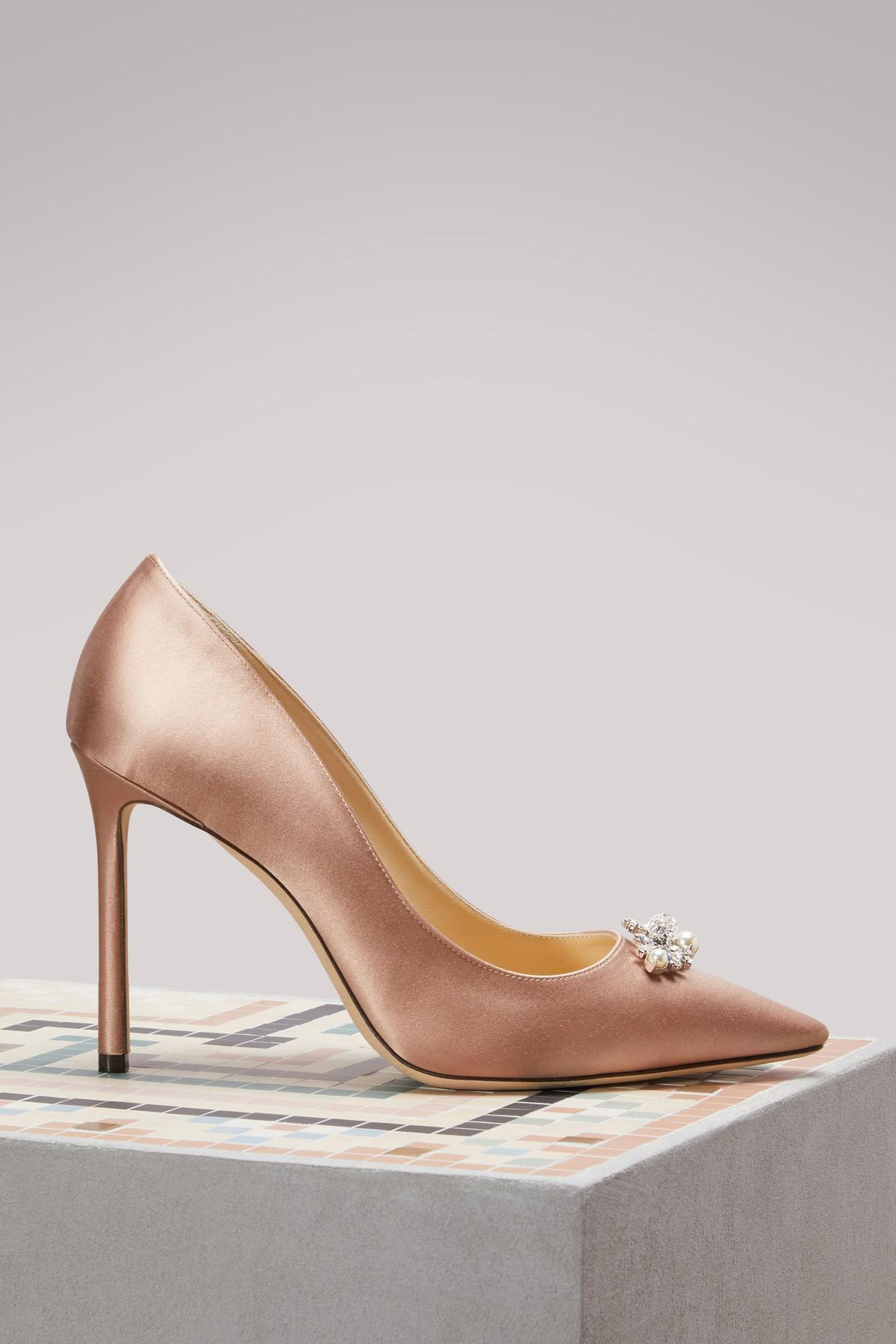 997a709e8829 Jimmy Choo. Women s Pink Alexa 100 Satin Court Shoes