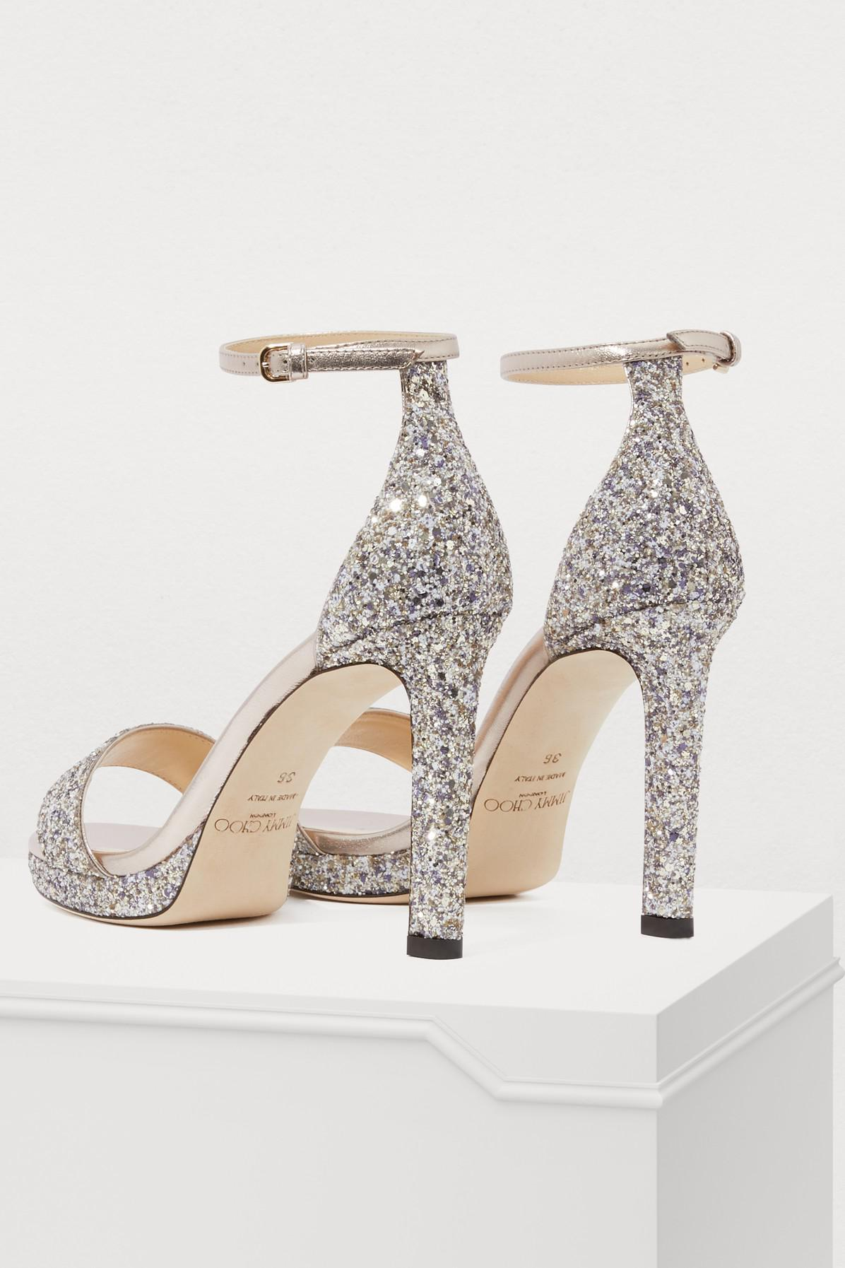 03e2fc888dc Jimmy Choo - Multicolor Misty 100 Sandals - Lyst. View fullscreen