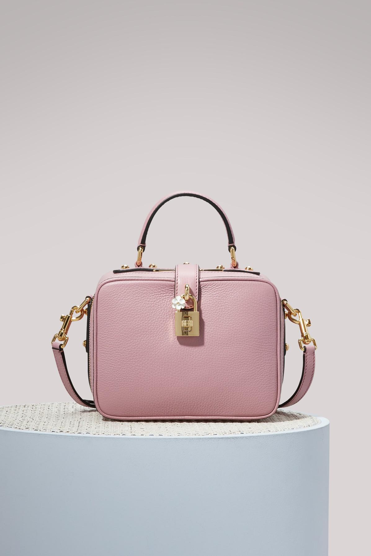 04ccf48493 Lyst - Dolce   Gabbana Dolce Soft Pm Shoulder Bag in Pink