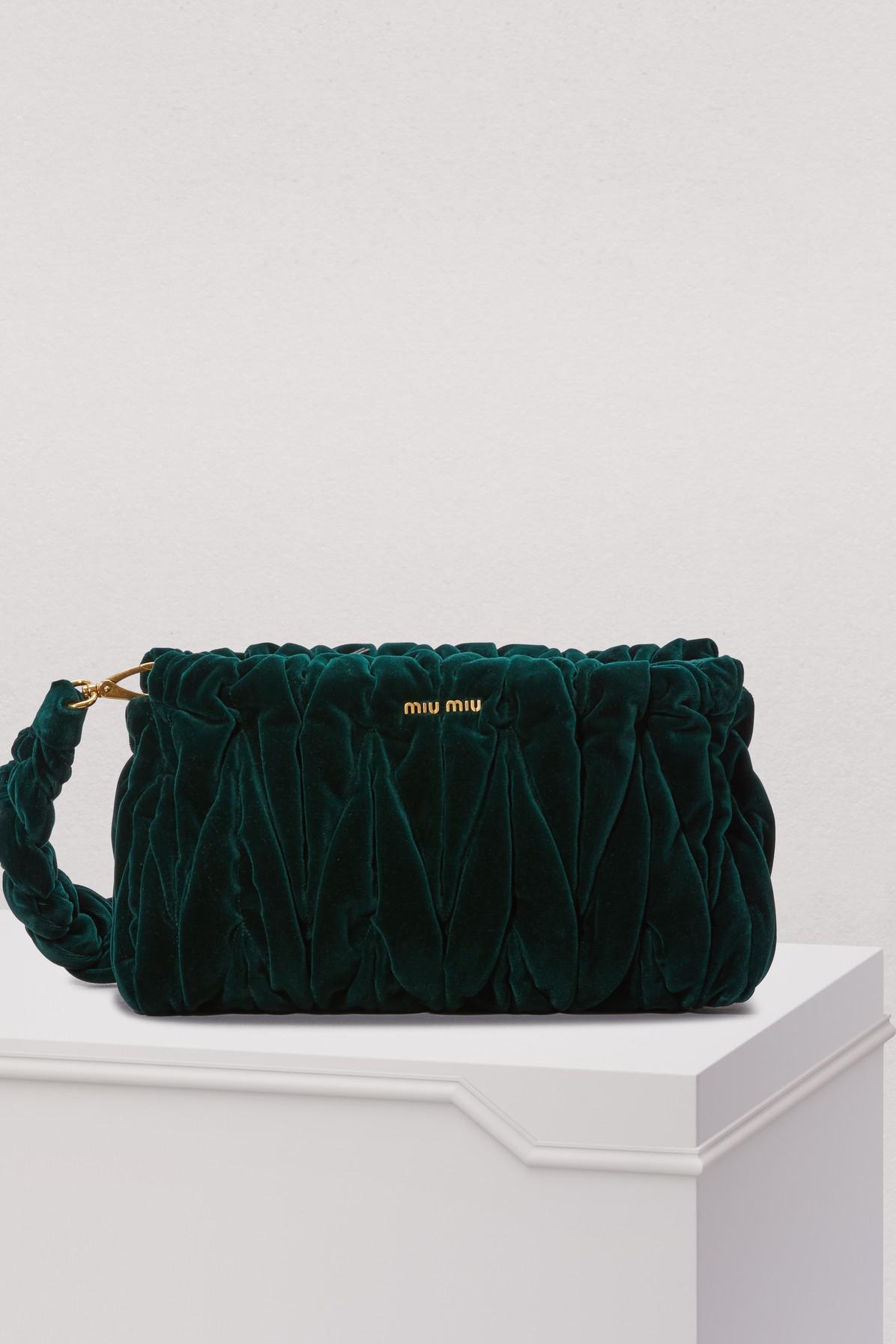3efdc95c5dc2 Miu Miu. Women s Velvet Matelasse Big Crossbody Bag