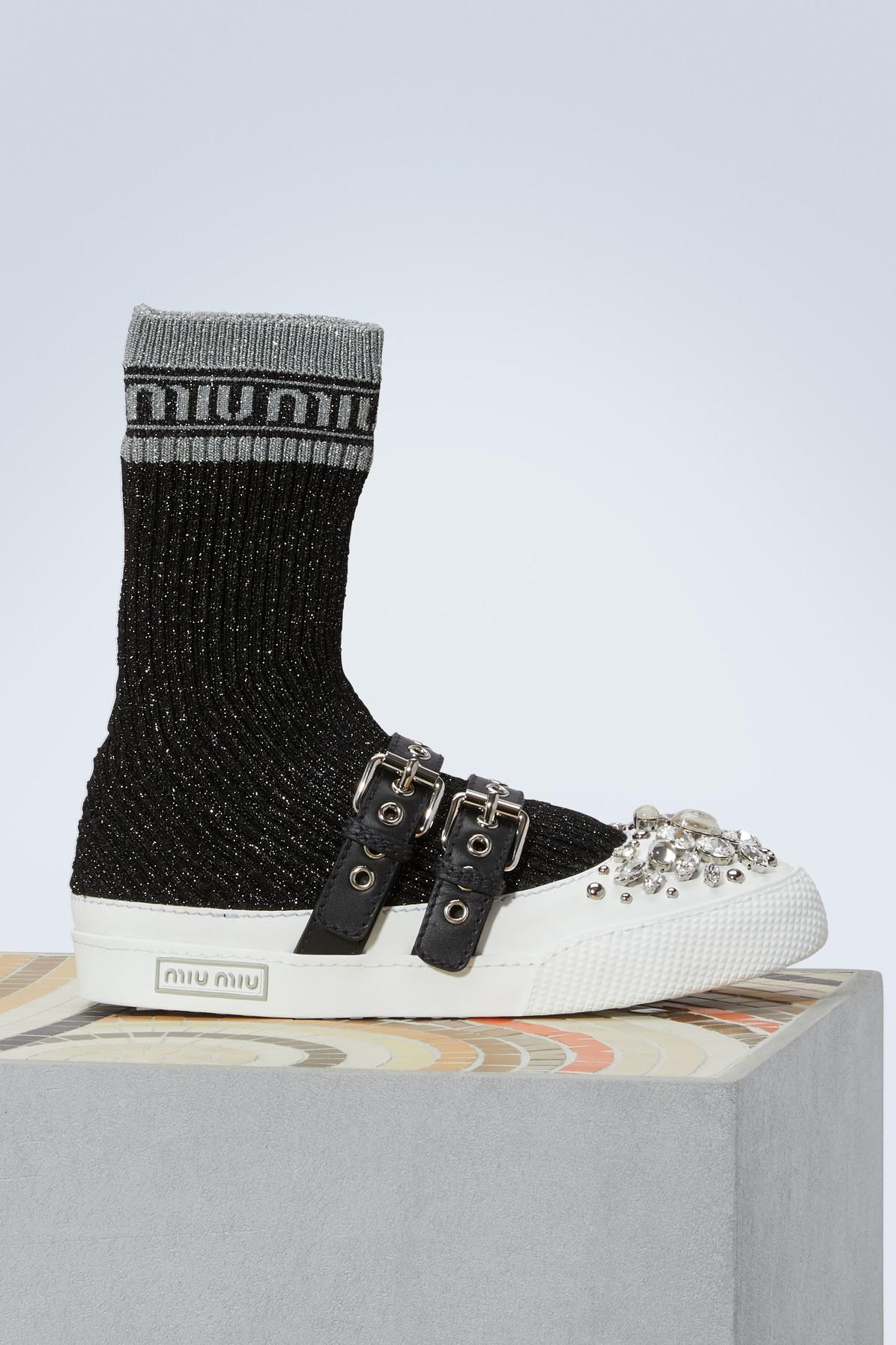 Miu sole socks sneakers Miu Miu xX518xeek