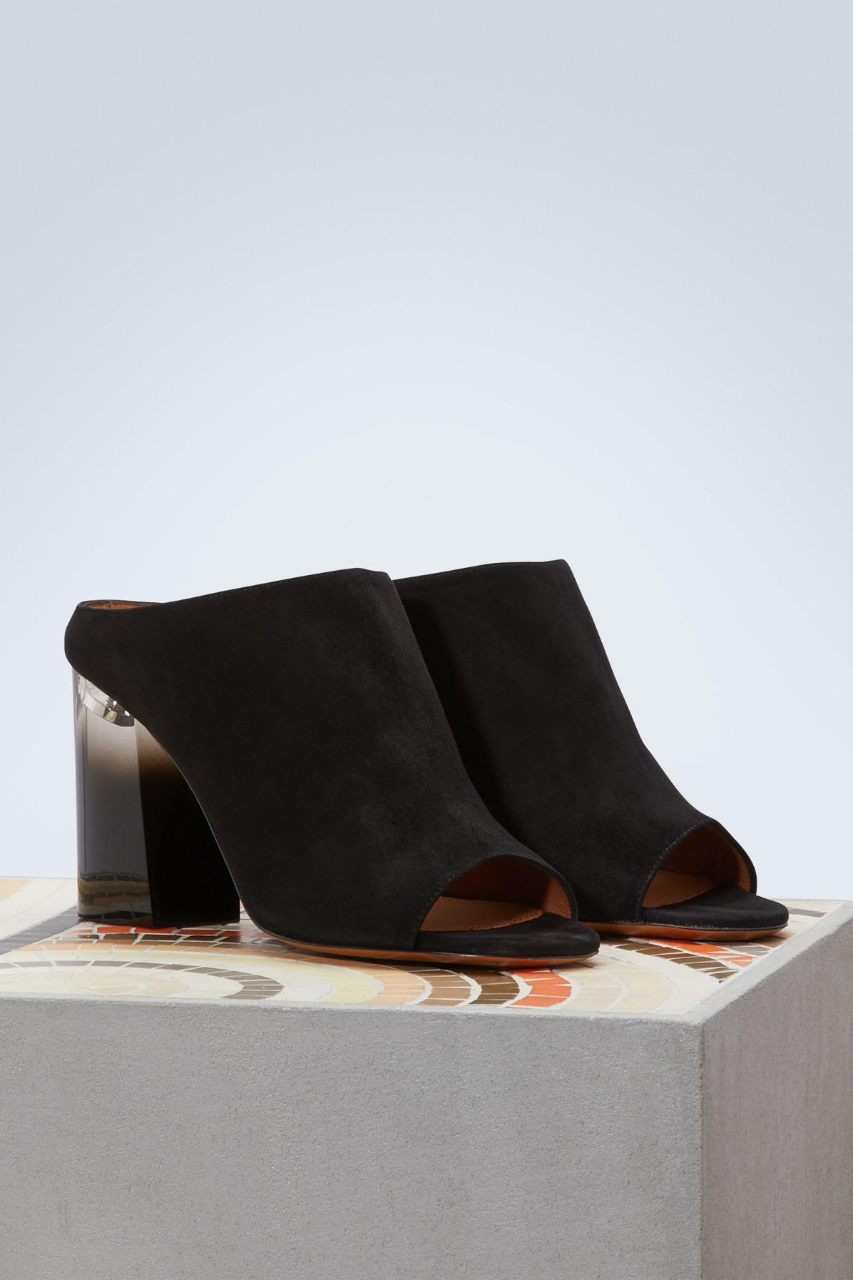 Givenchy Plexiglass-heeled slippers