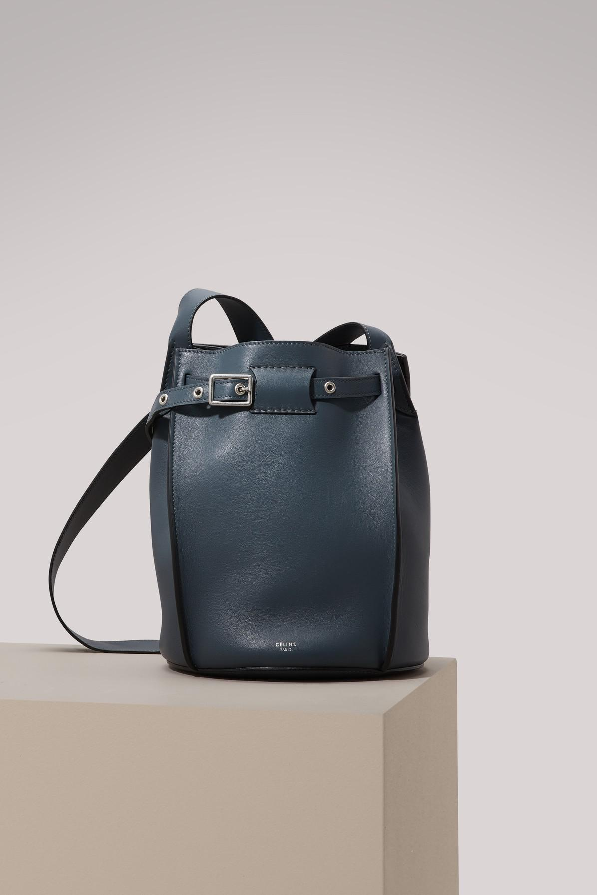 Lyst - Céline Big Bag Bucket With Long Strap In Smooth Calfskin in Blue dc51679aa9603