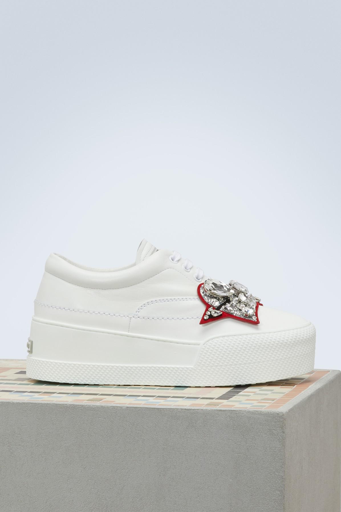 Miu Miu Jewel heart sneakers QtYTuwSaml