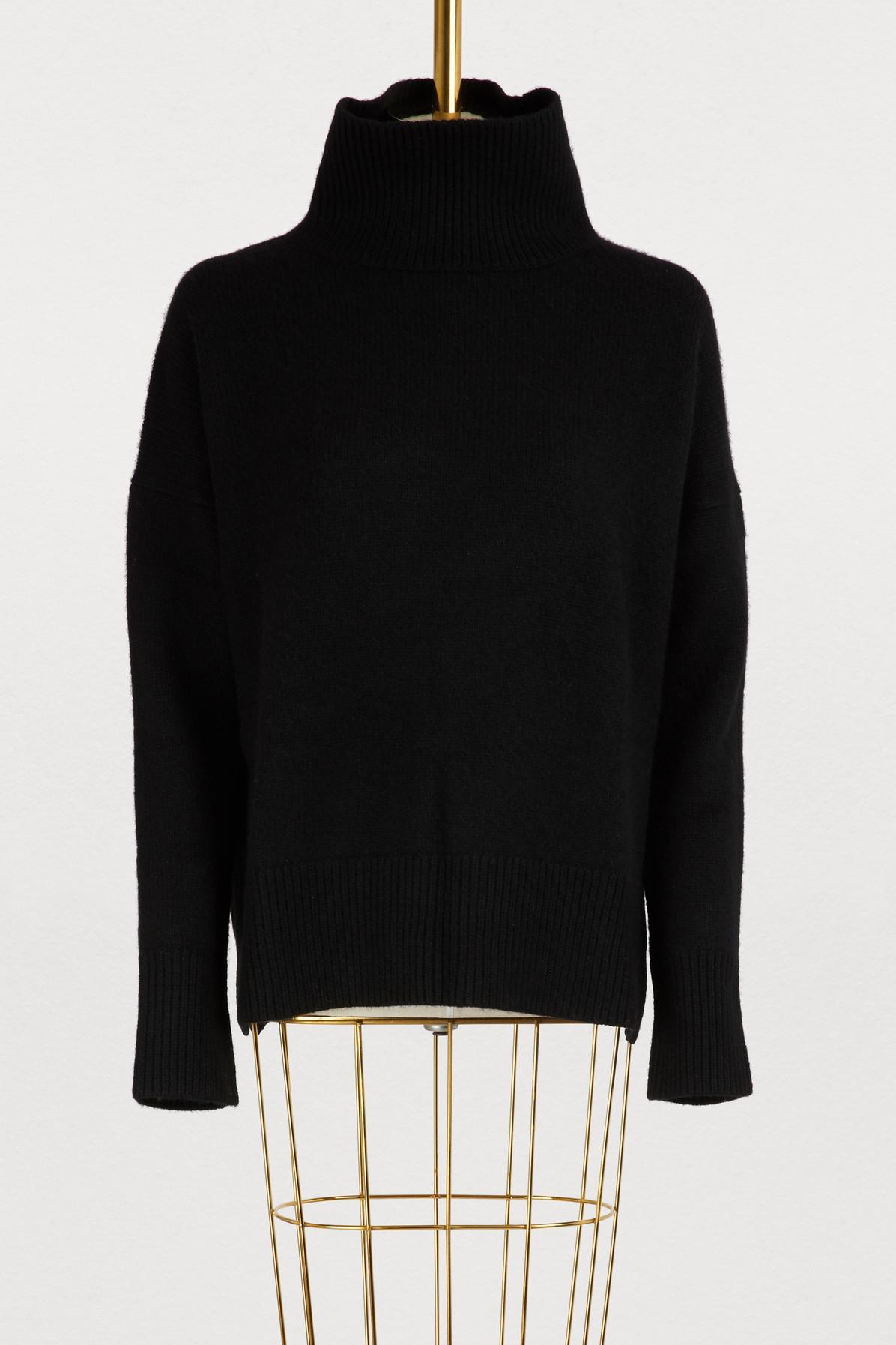 c200a1b5b7 Vanessa Bruno Jafet Turtleneck Sweater in Black - Lyst