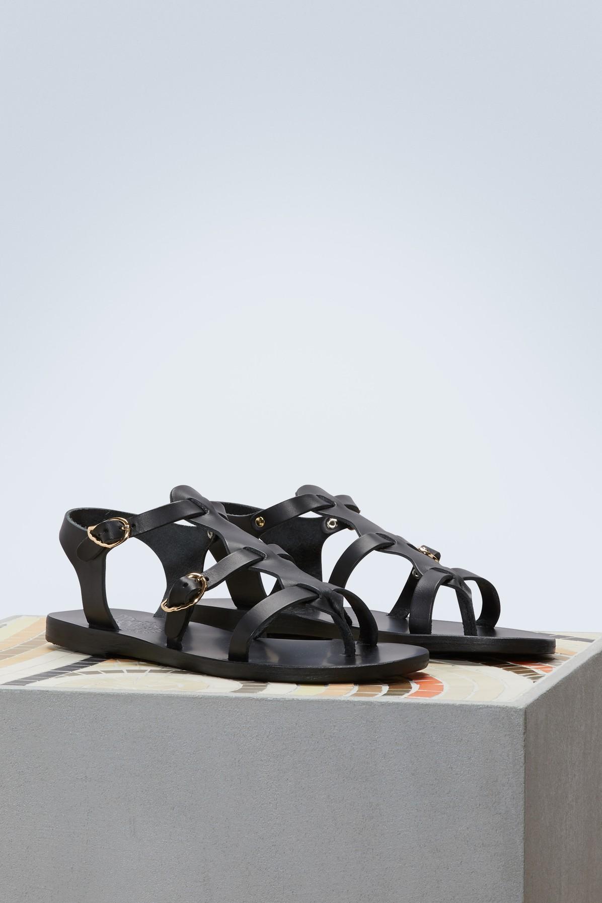 ab21bdc9e Ancient Greek Sandals - Black Grace Kelly Sandals - Lyst. View fullscreen