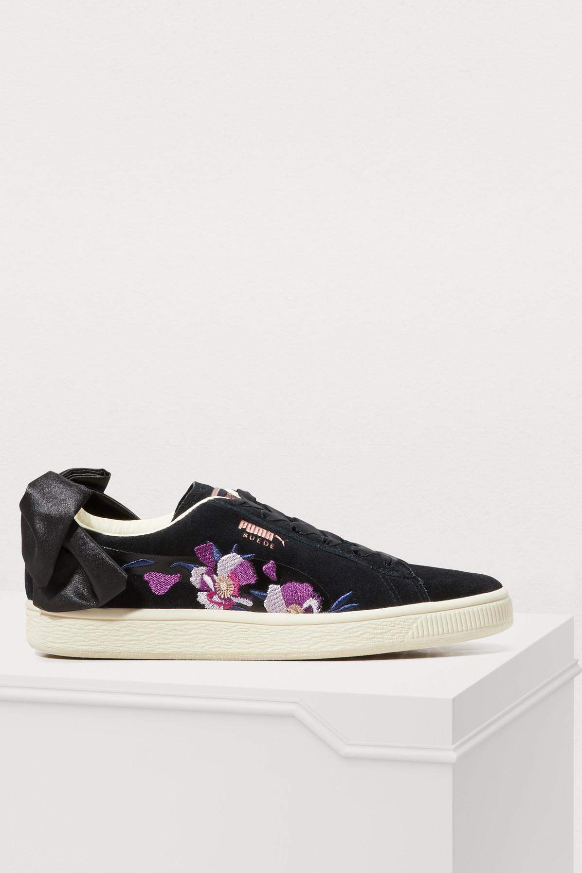 PUMA - Black Bow Flowery Sneakers - Lyst. View fullscreen 4718fe95e