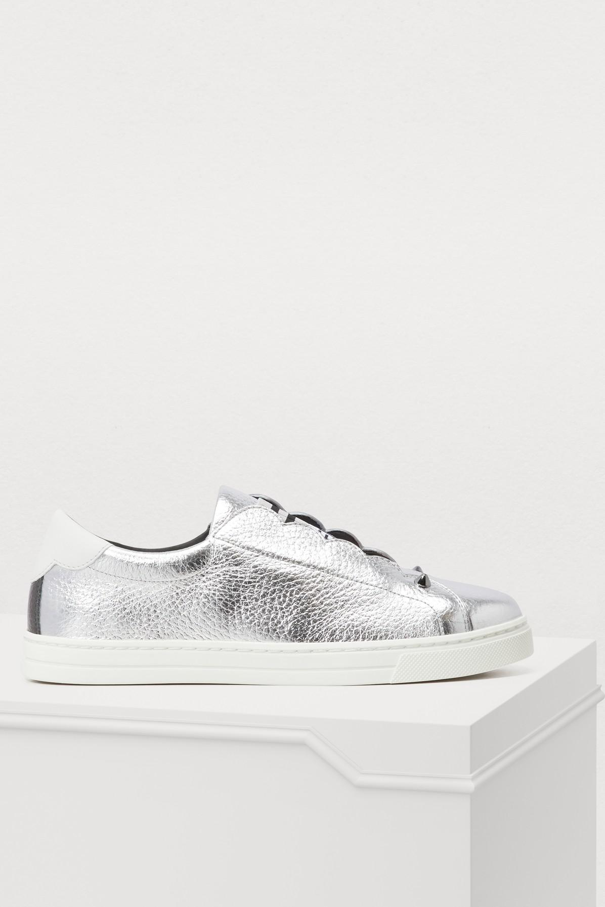 cc17ef27aec59 Fendi Rockoko Sneakers in White - Lyst