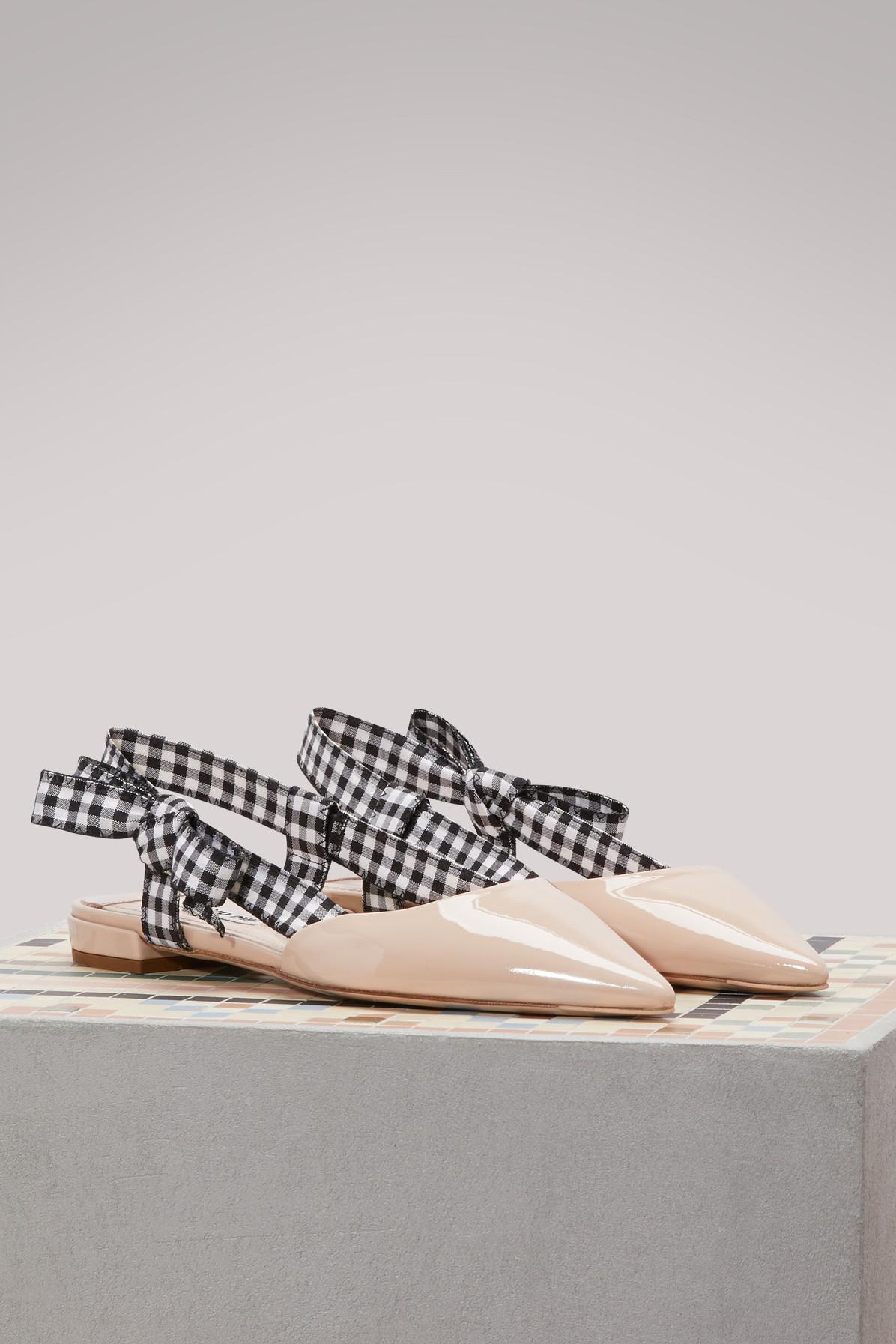 Miu Miu Vichy slingback ballet pumps AxXFtOJ