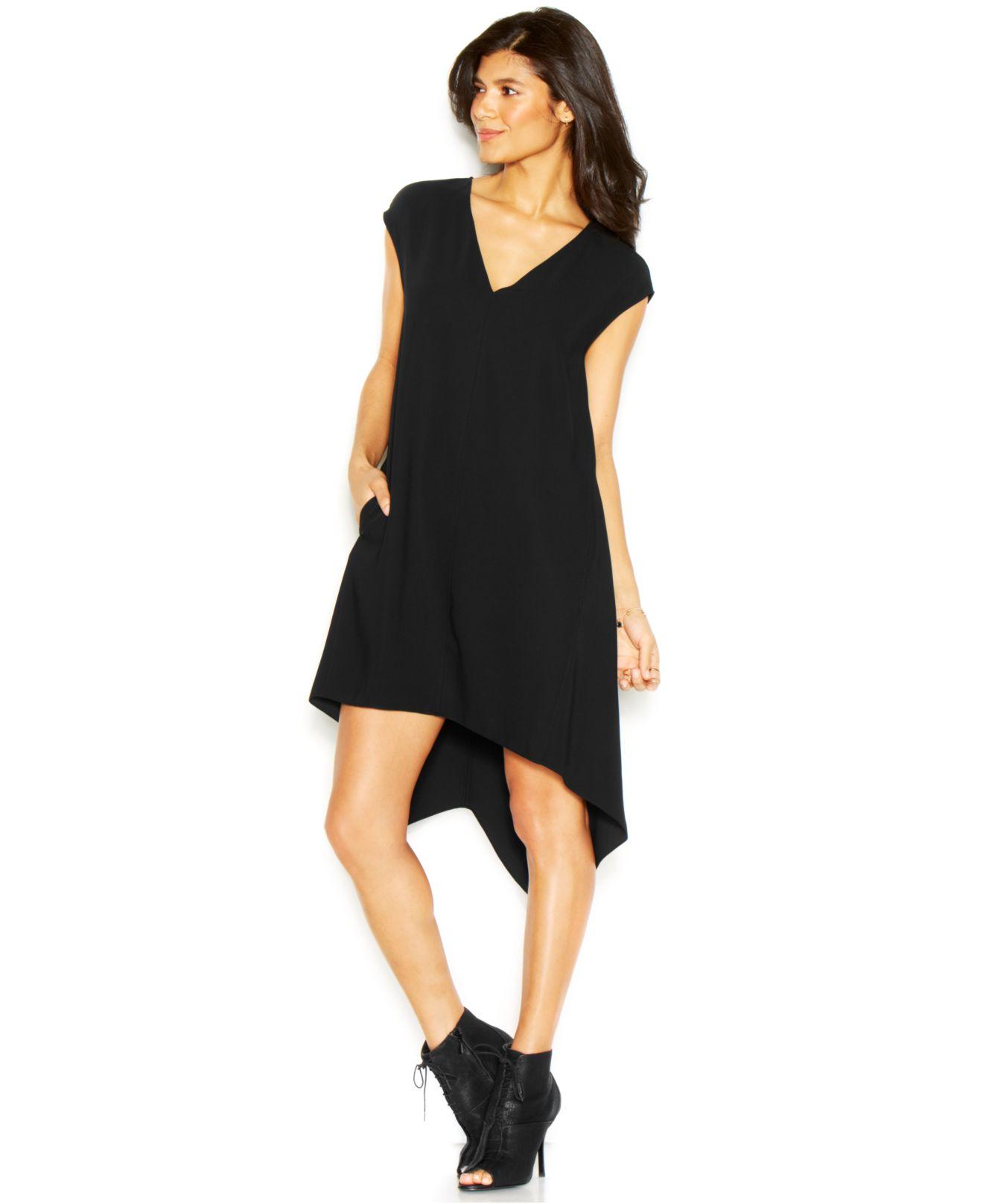 Rachel rachel roy sydney high low dress in black save 25 for Macy black dress wear to wedding
