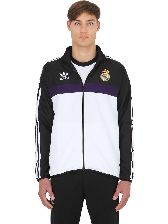 Adidas Originals Limit Ed Real Madrid Replica Jacket In