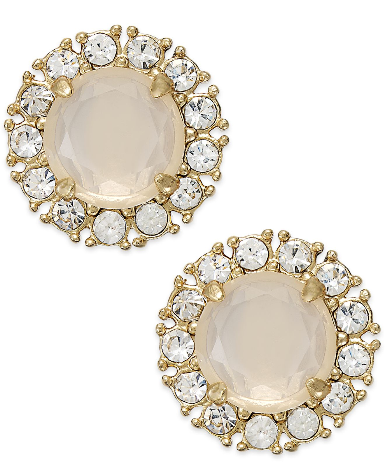 kate spade gold tone stud earrings in white lyst