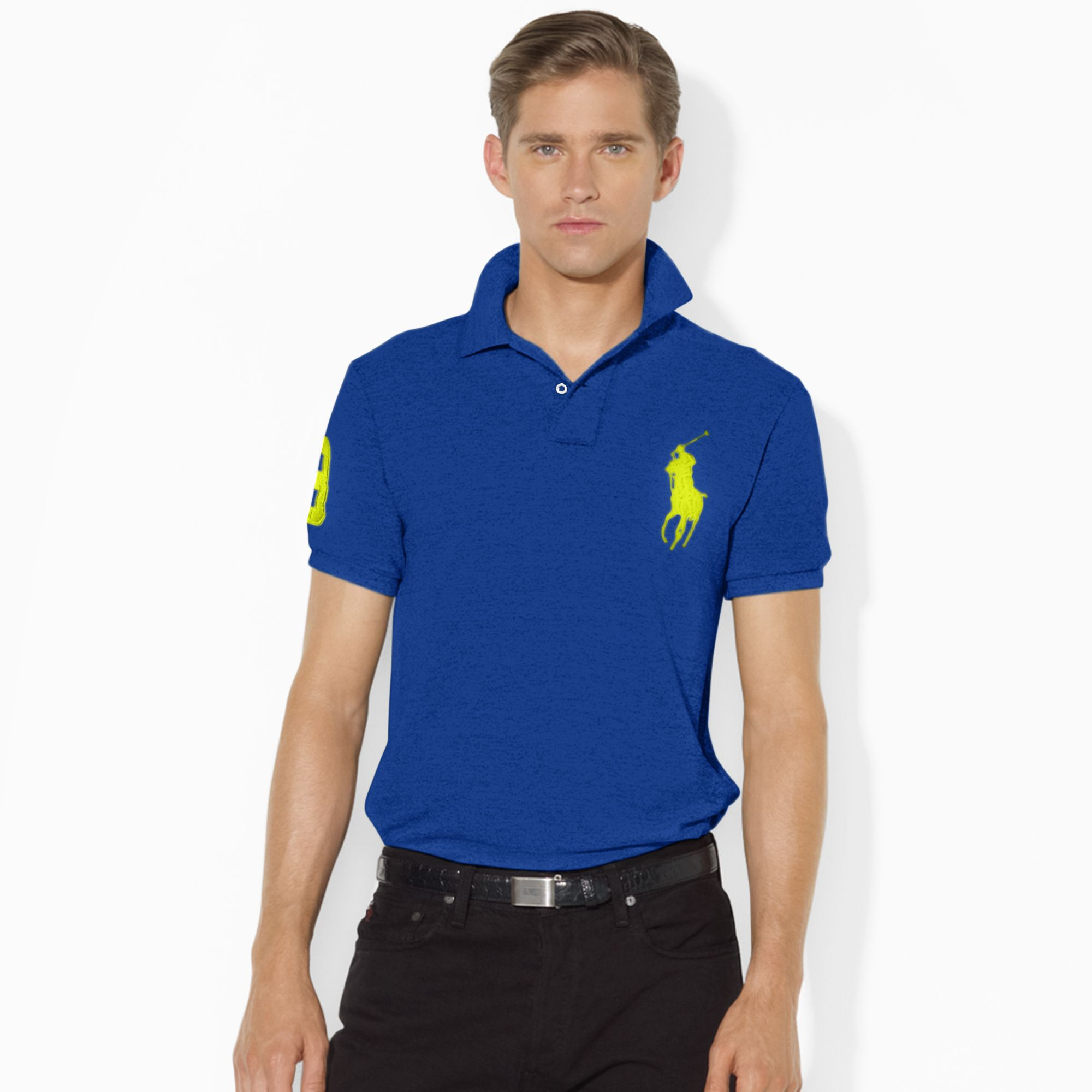 polo ralph lauren big pony polo shirt in blue for men lyst. Black Bedroom Furniture Sets. Home Design Ideas