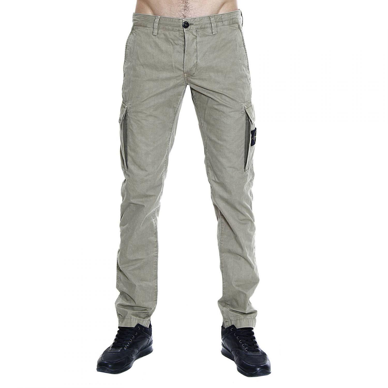 Stone Island - Green Trouser Pants Pockets Halter Neck Work Cotton ...