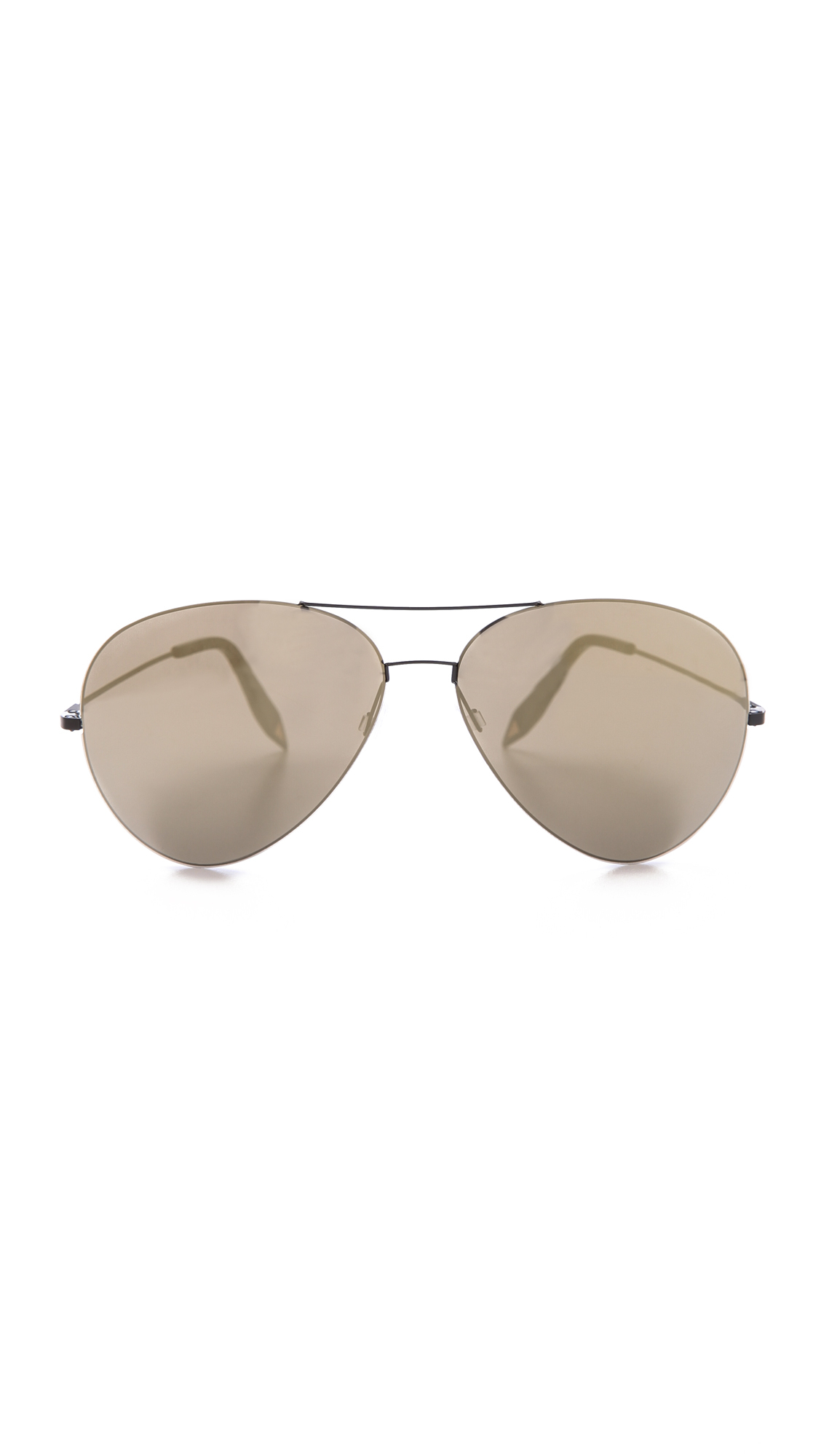 Lyst Victoria Beckham Feather Aviator Sunglasses Black