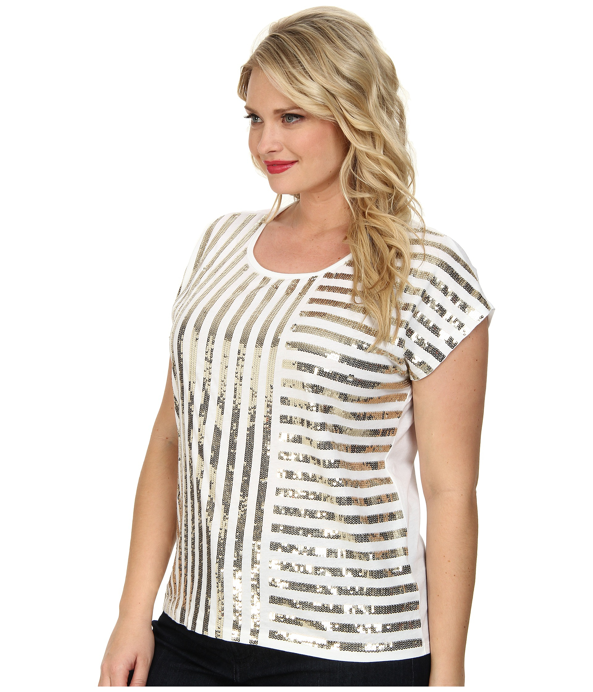 bab92cbf Plus Size Sequin Tops Blouse - Image Of Blouse and Pocket