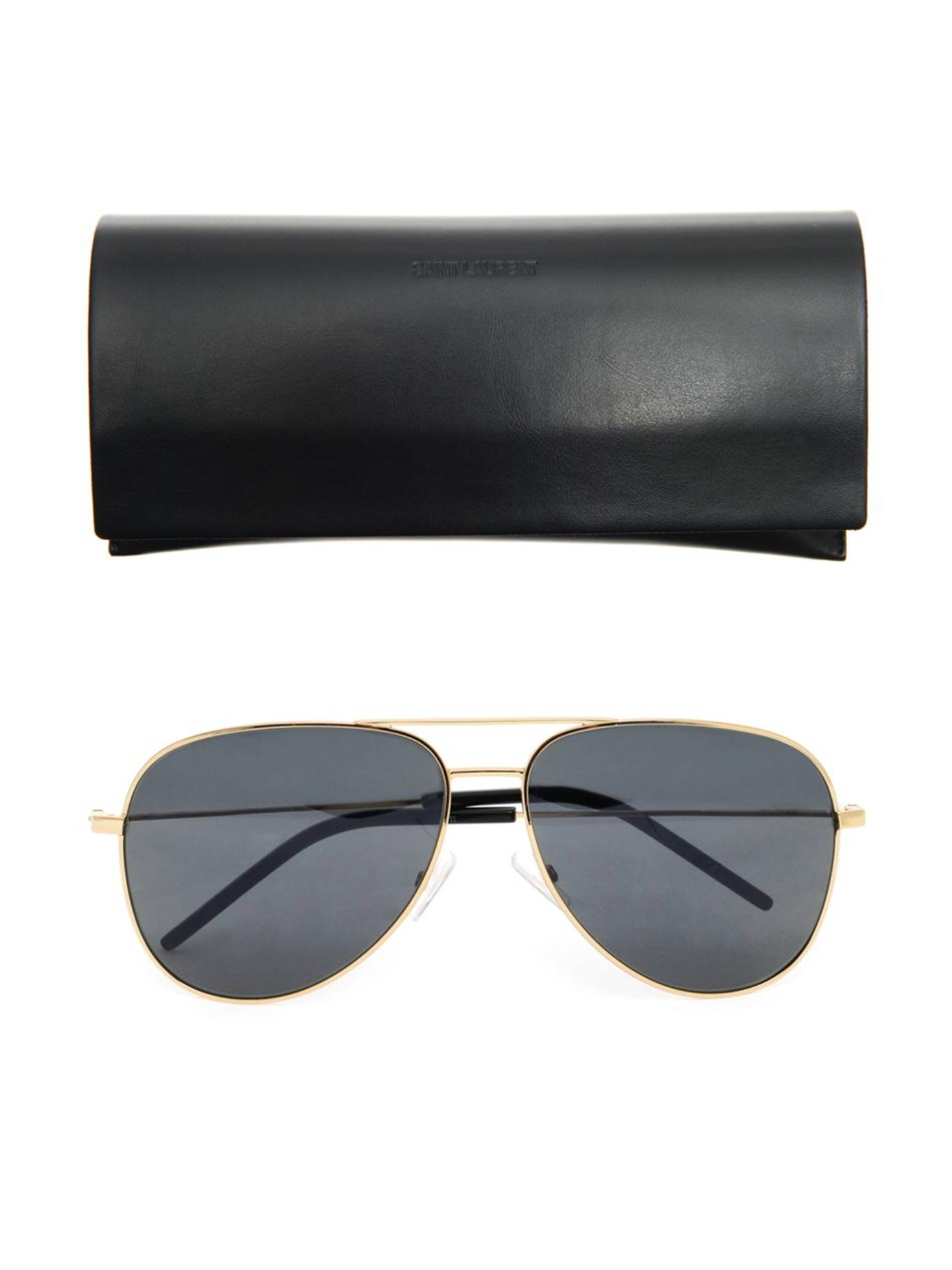 edf22e24fd Saint Laurent Fluro Aviator Sunglasses