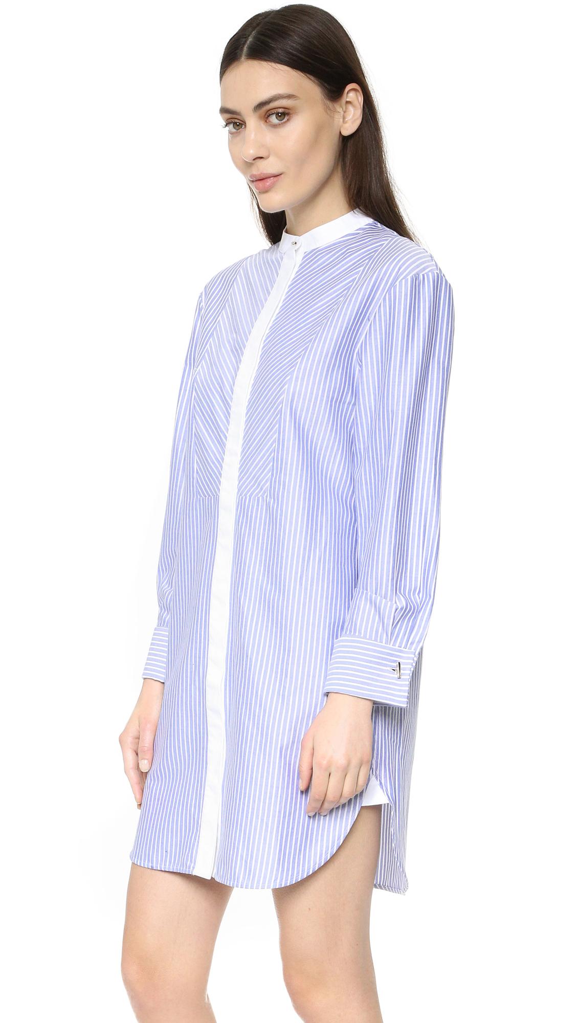 lyst olivia von halle hemmingway twill sleep shirt in white. Black Bedroom Furniture Sets. Home Design Ideas