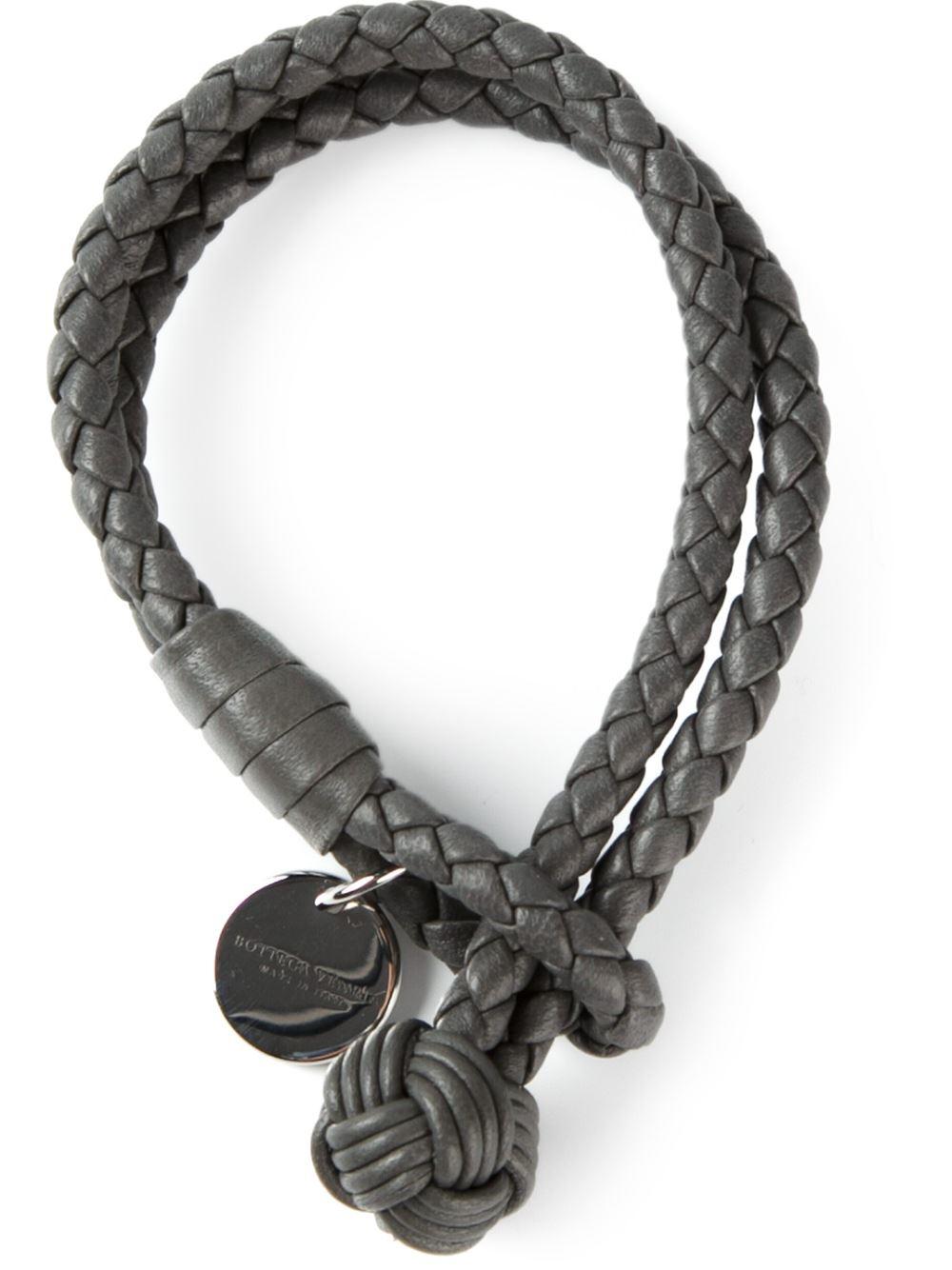 Lyst Bottega Veneta Intrecciato Bracelet In Black