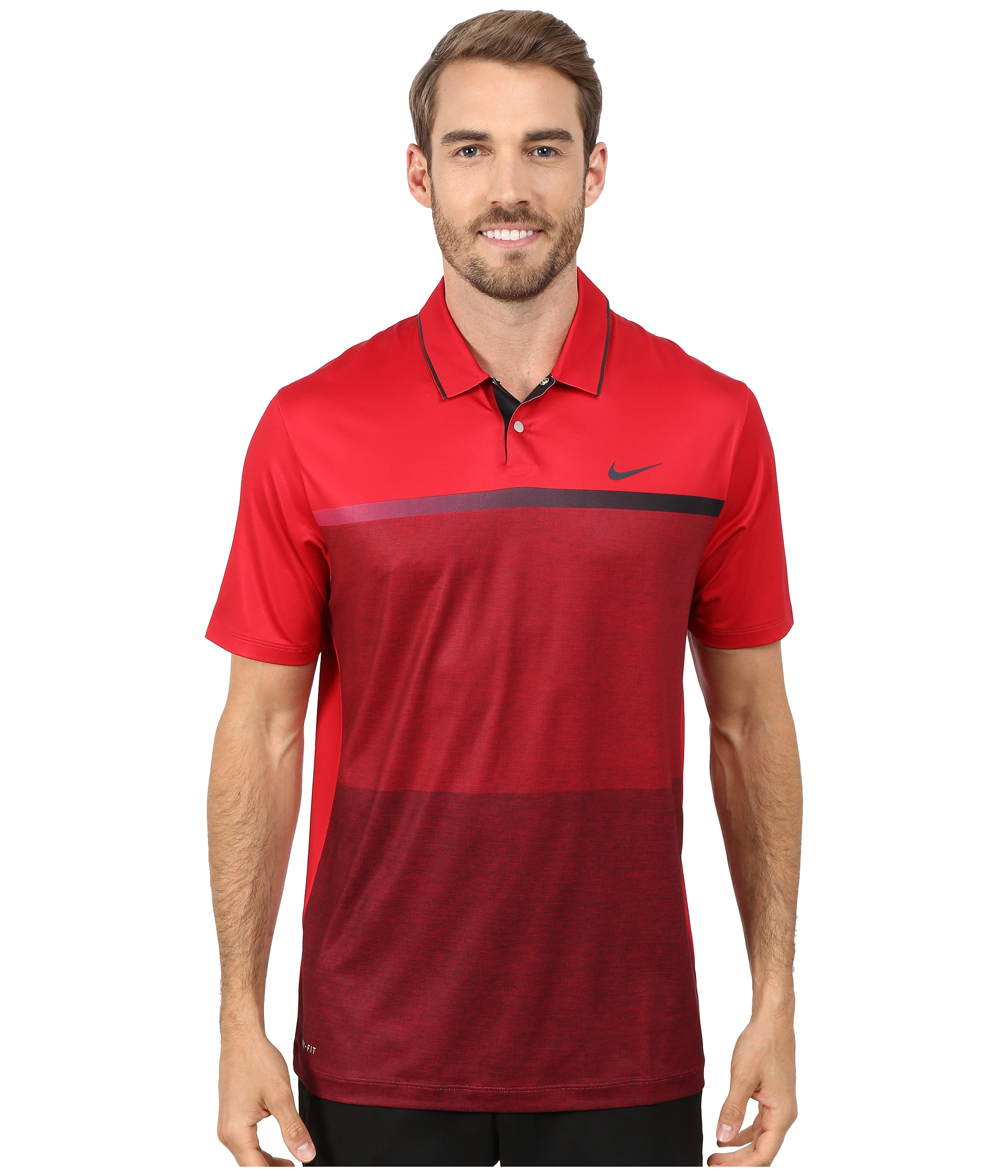 1d336377c6 Nike Tiger Woods Mobility Print Polo Shirt in Red for Men - Lyst
