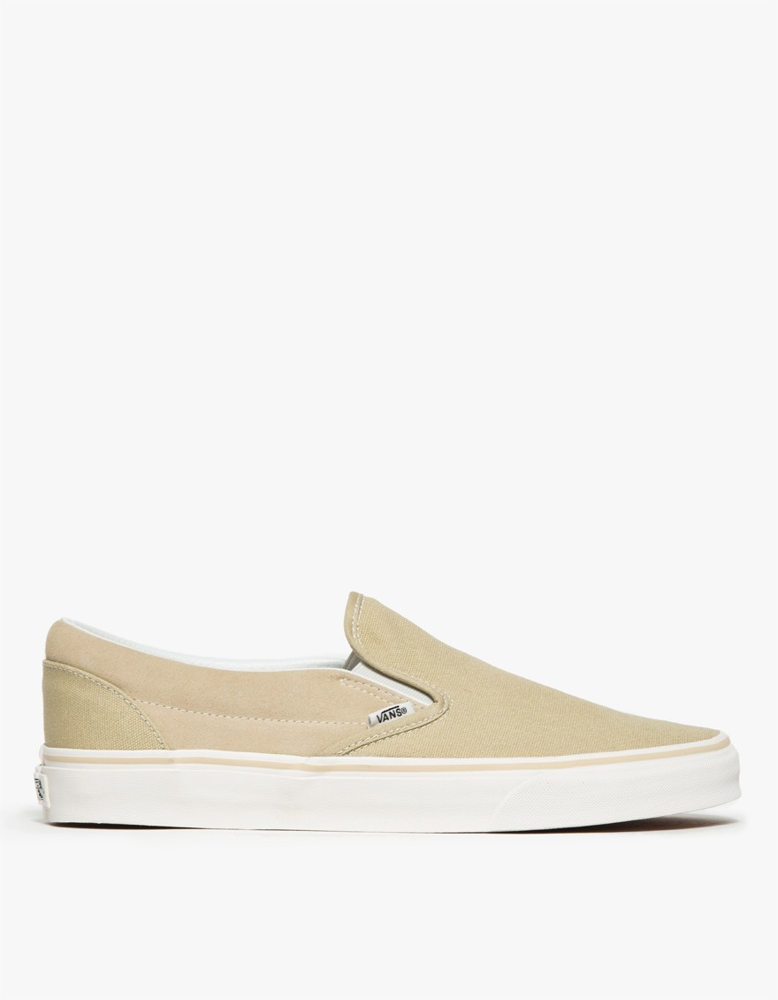 Lyst - Vans Classic Slip-on Canvas suede in Natural for Men 4b05c5056