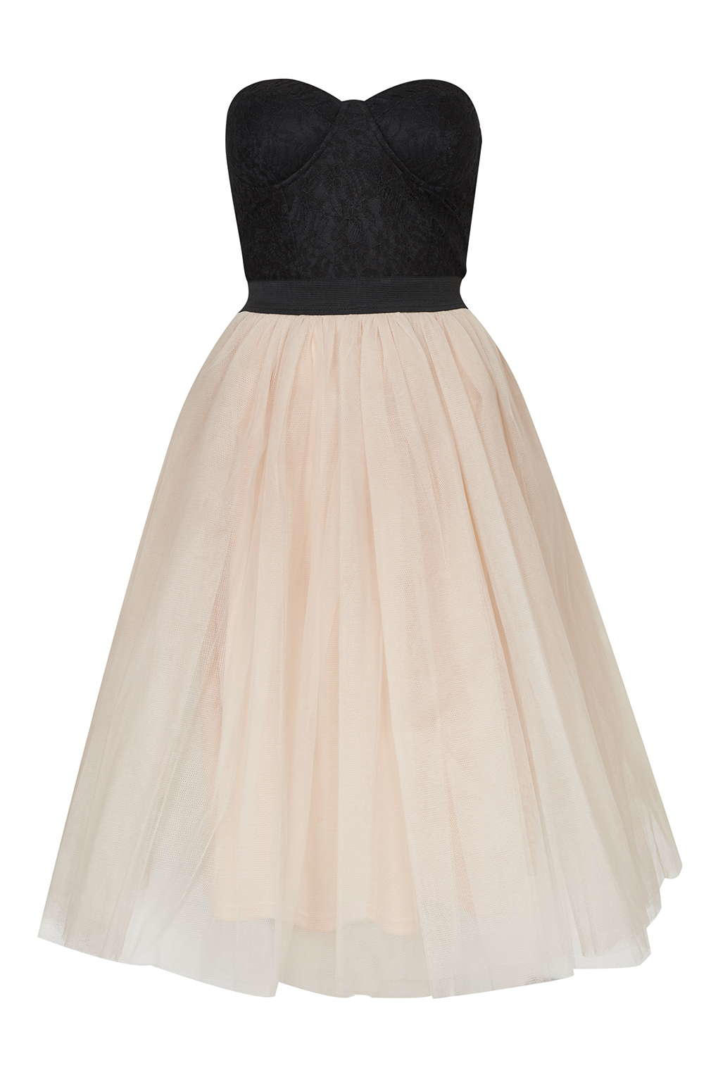 Topshop Bustier Tutu Prom Dress By Rare in Black - Lyst