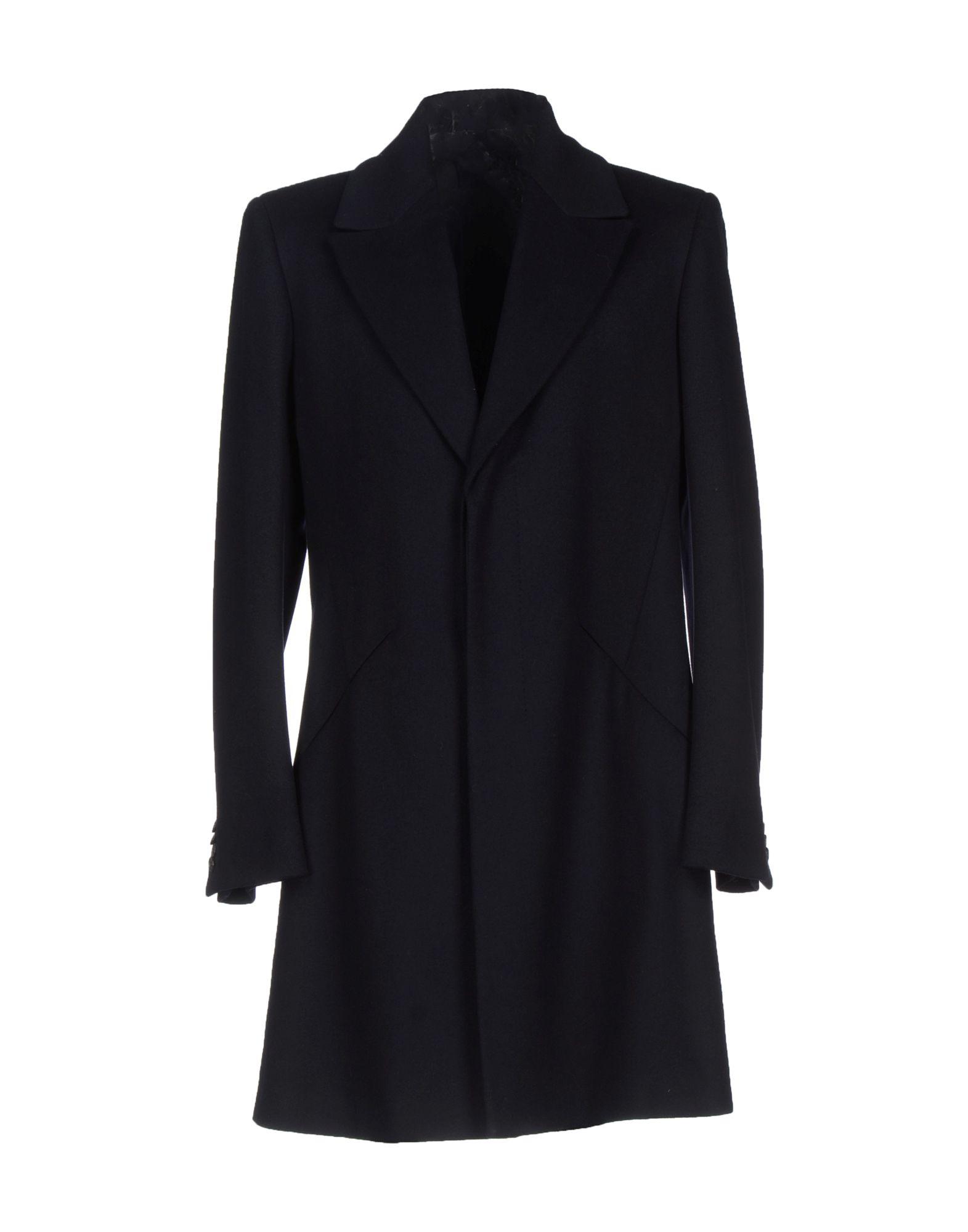 Lyst Alexander Mcqueen Coat In Black For Men