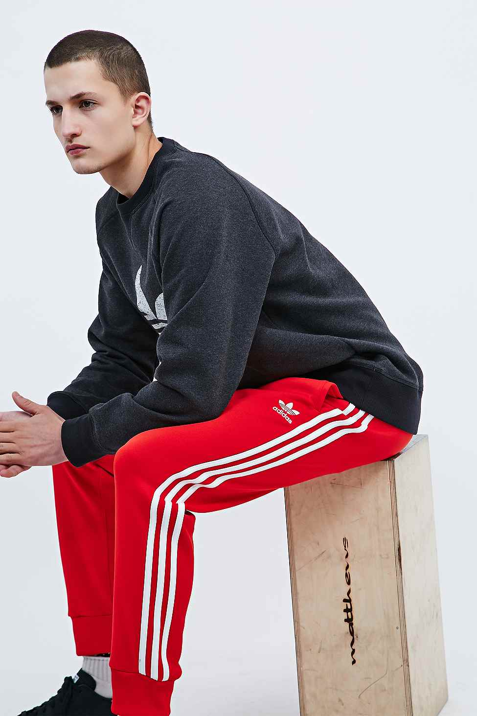 5307814fa1b adidas Superstar Joggers In Red in Red for Men - Lyst
