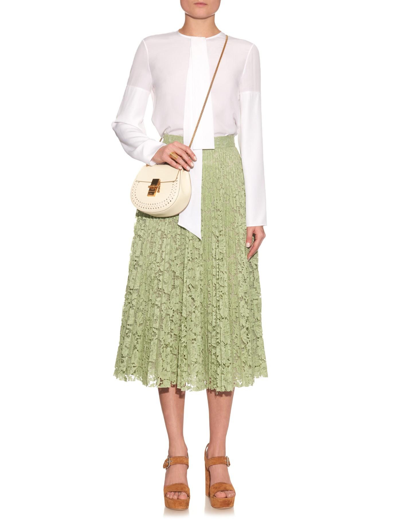 chloe purse - Chlo�� Drew Mini Leather Cross-body Bag in White | Lyst