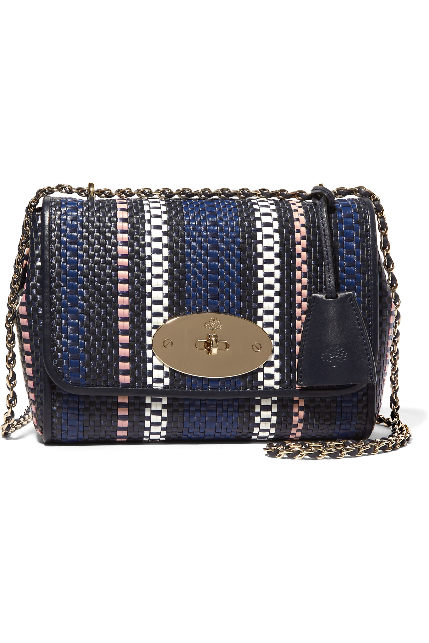 be414b8b98a7 Mulberry Lily Small Woven Raffia And Leather Shoulder Bag in Blue - Lyst