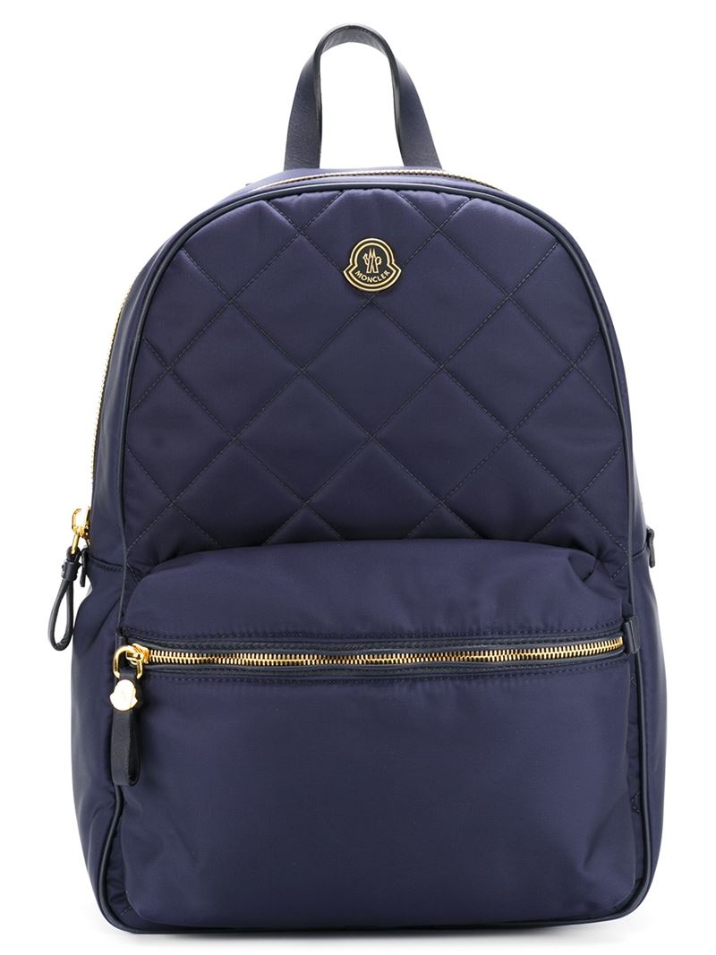 moncler quilted backpack in blue