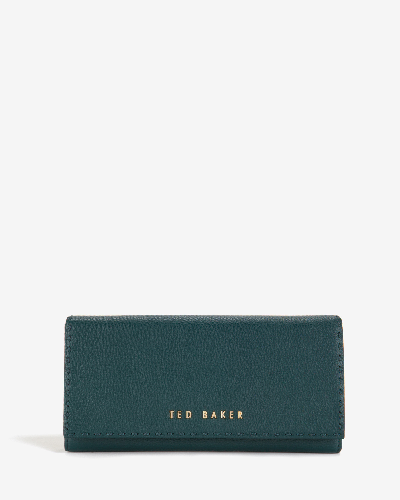 5727ce93f Ted Baker Leather Stab Stitch Matinee Purse in Green - Lyst