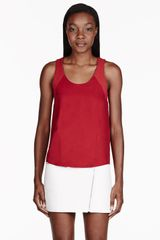 Rag & Bone Red Silk Tank Top - Lyst