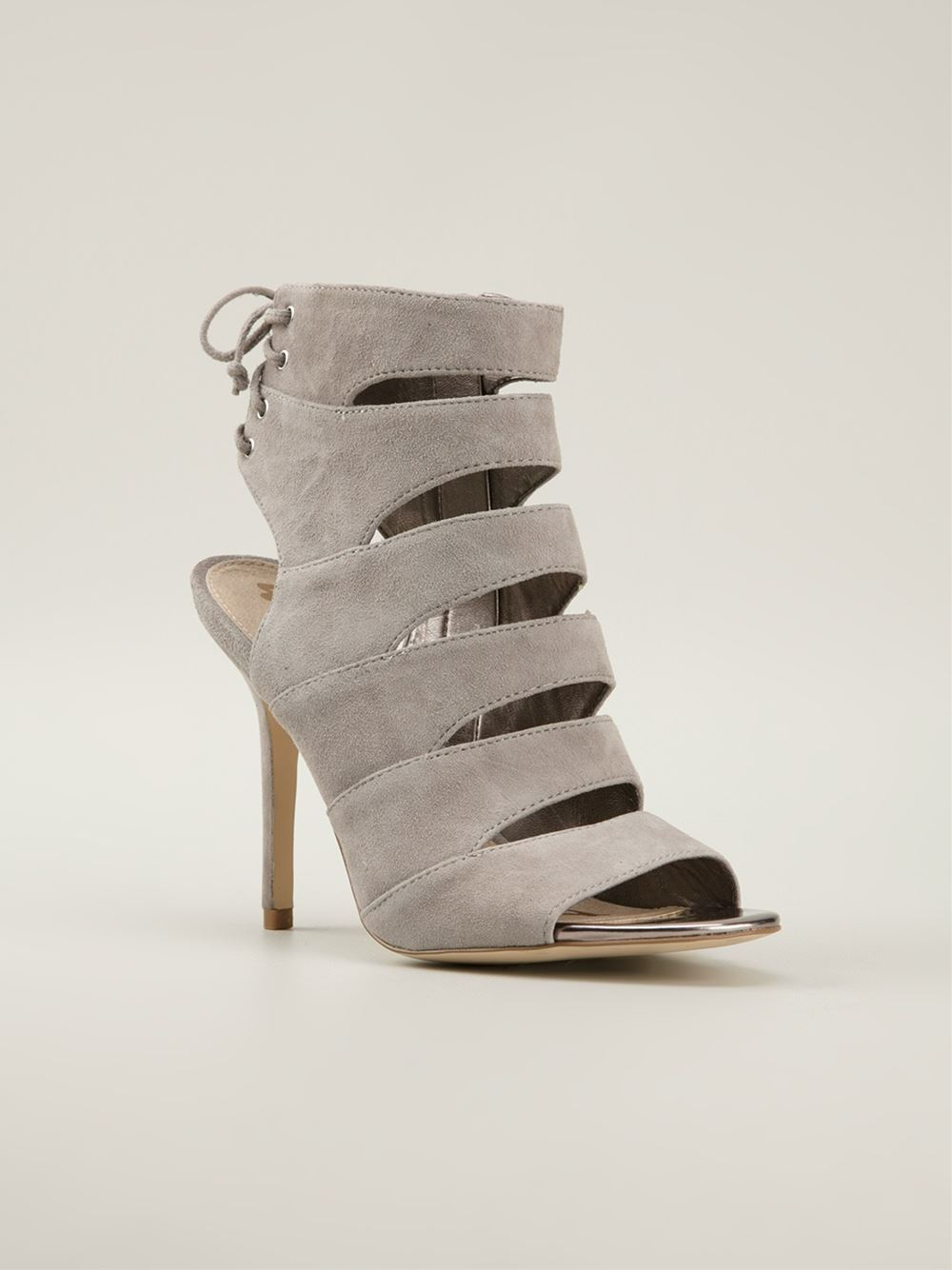 Lyst Sam Edelman Anastasia Cut Out Sandals In Gray